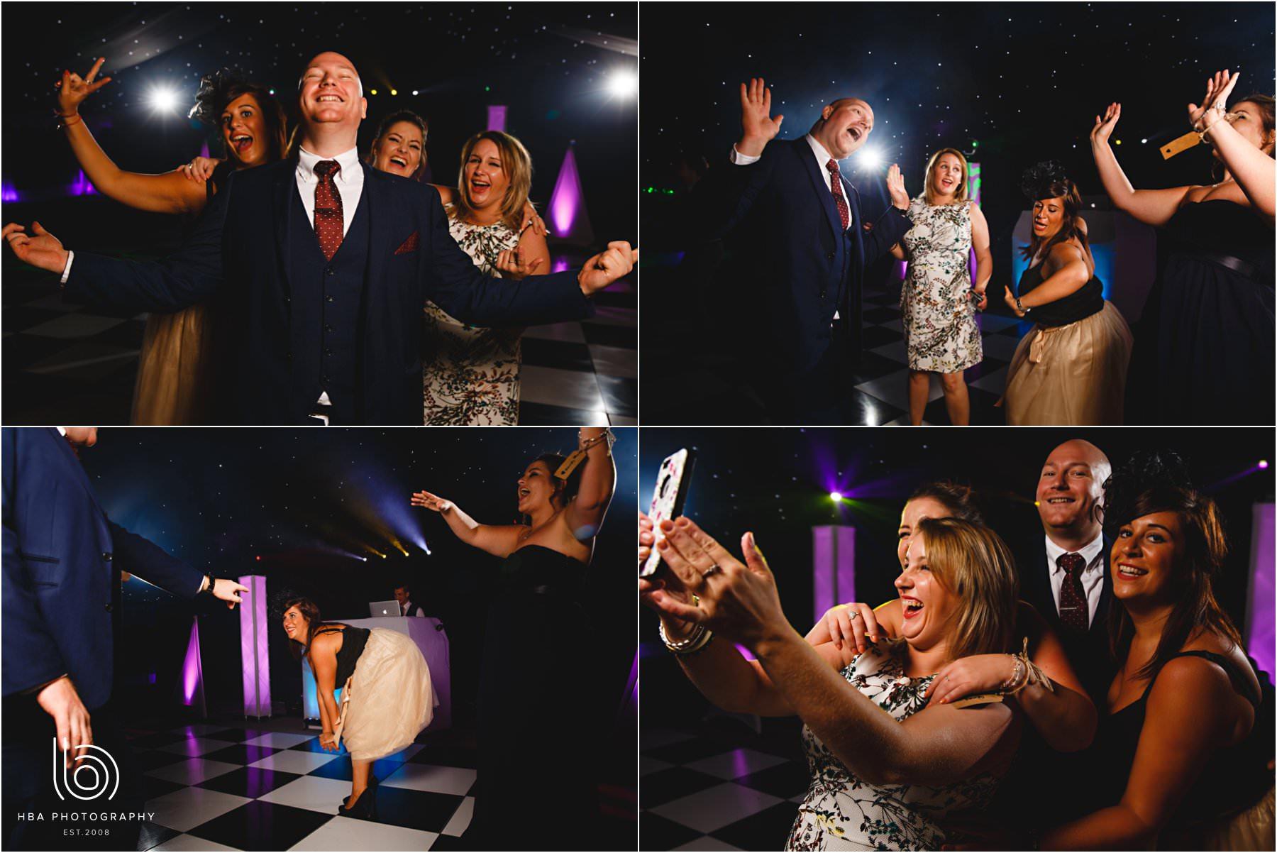 everyone dancing at the wedding