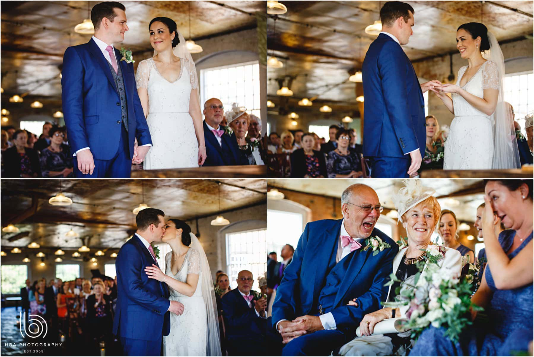 the wedding at The West Mill
