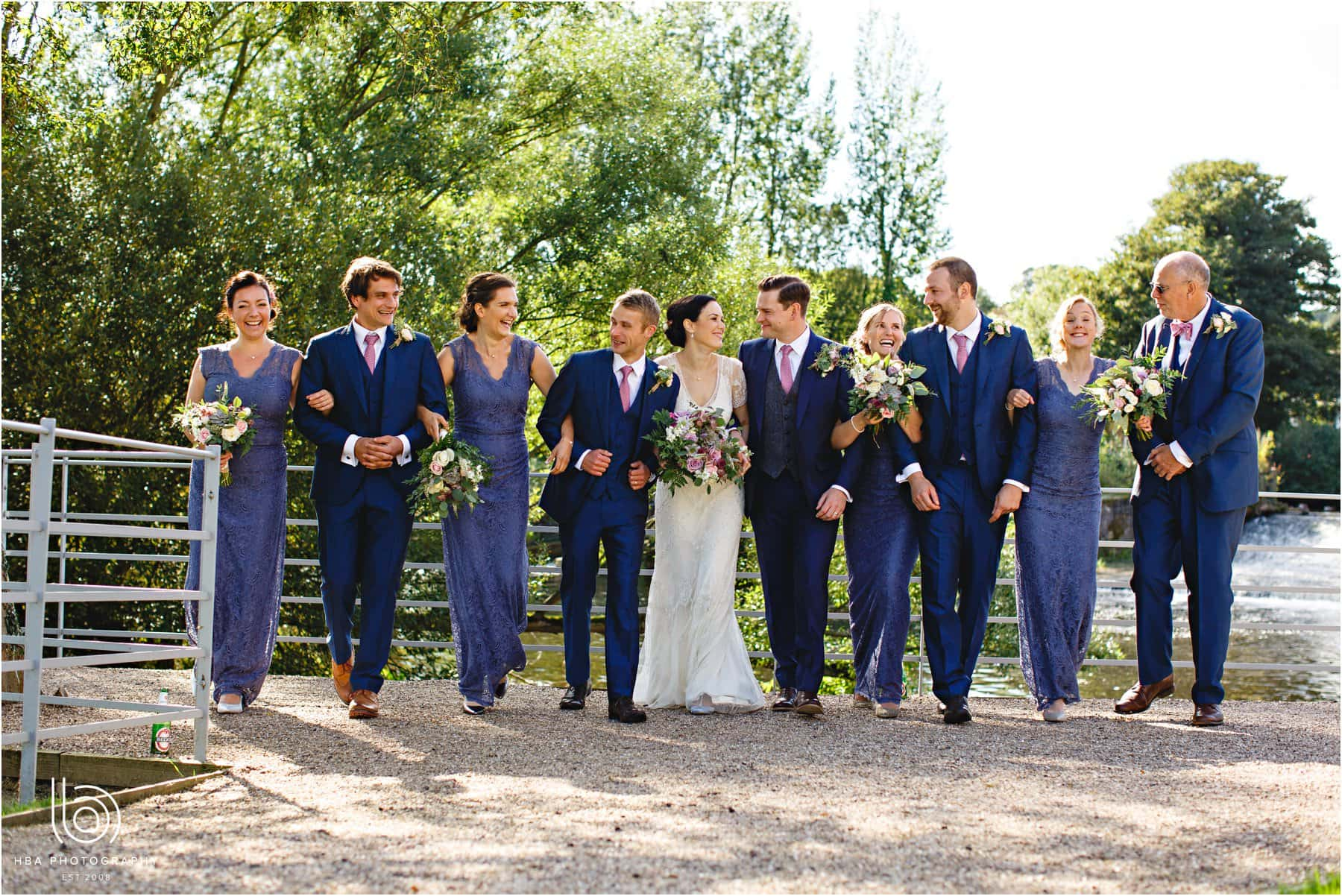 the bride & groom and their bridal party