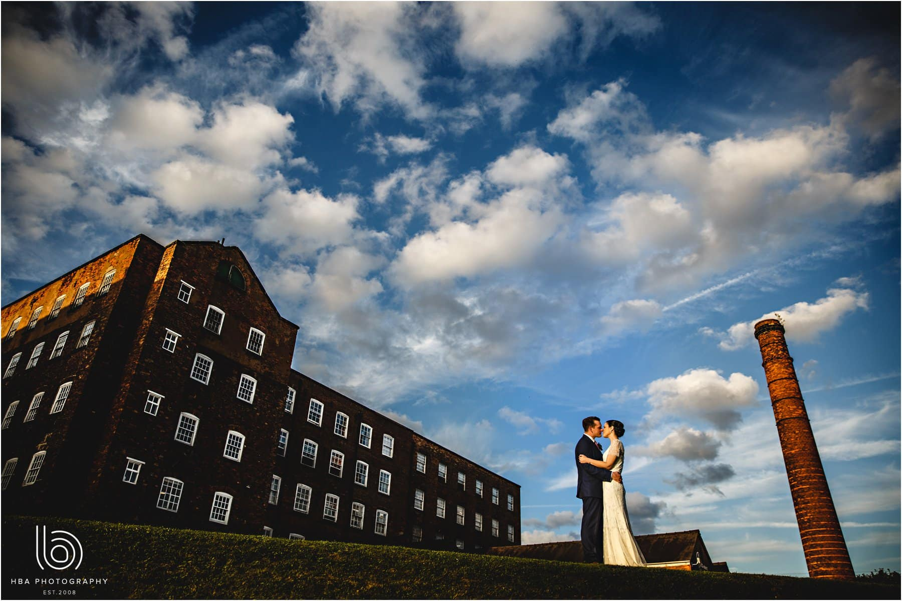 the bride & groom with The West Mill