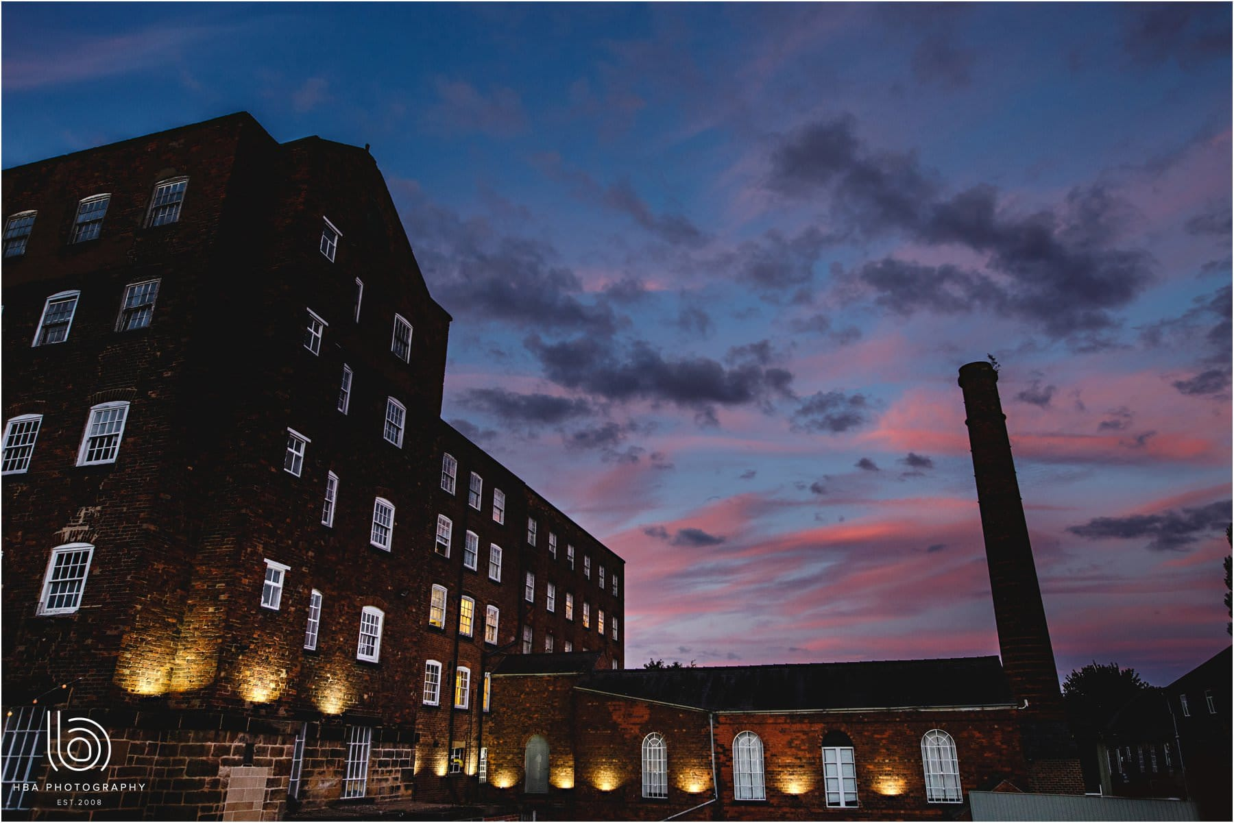 sunset at The west Mill