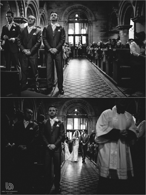 the church ceremony