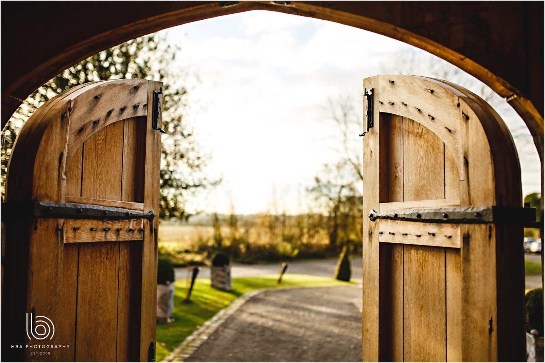 the doors at Shustoke farm Barns