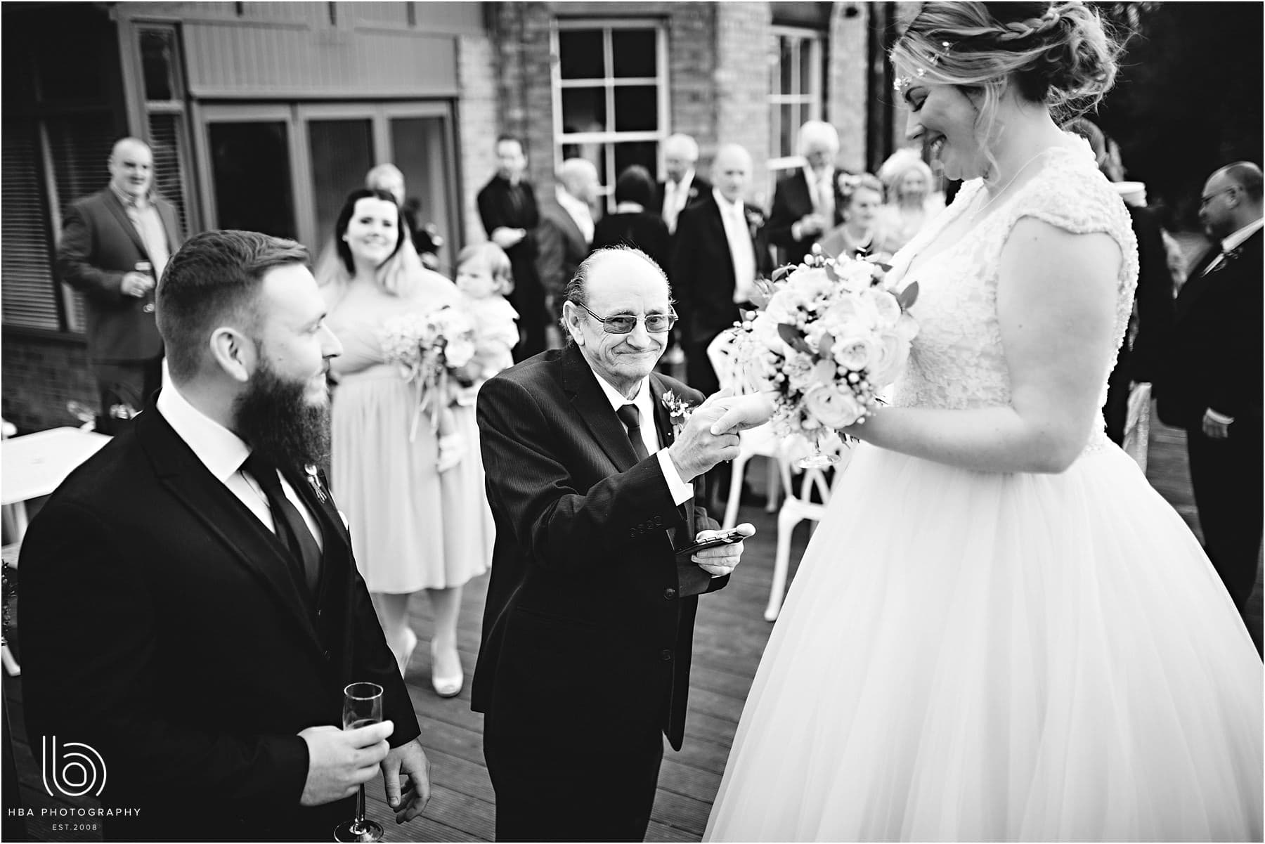 the bride and her grandad