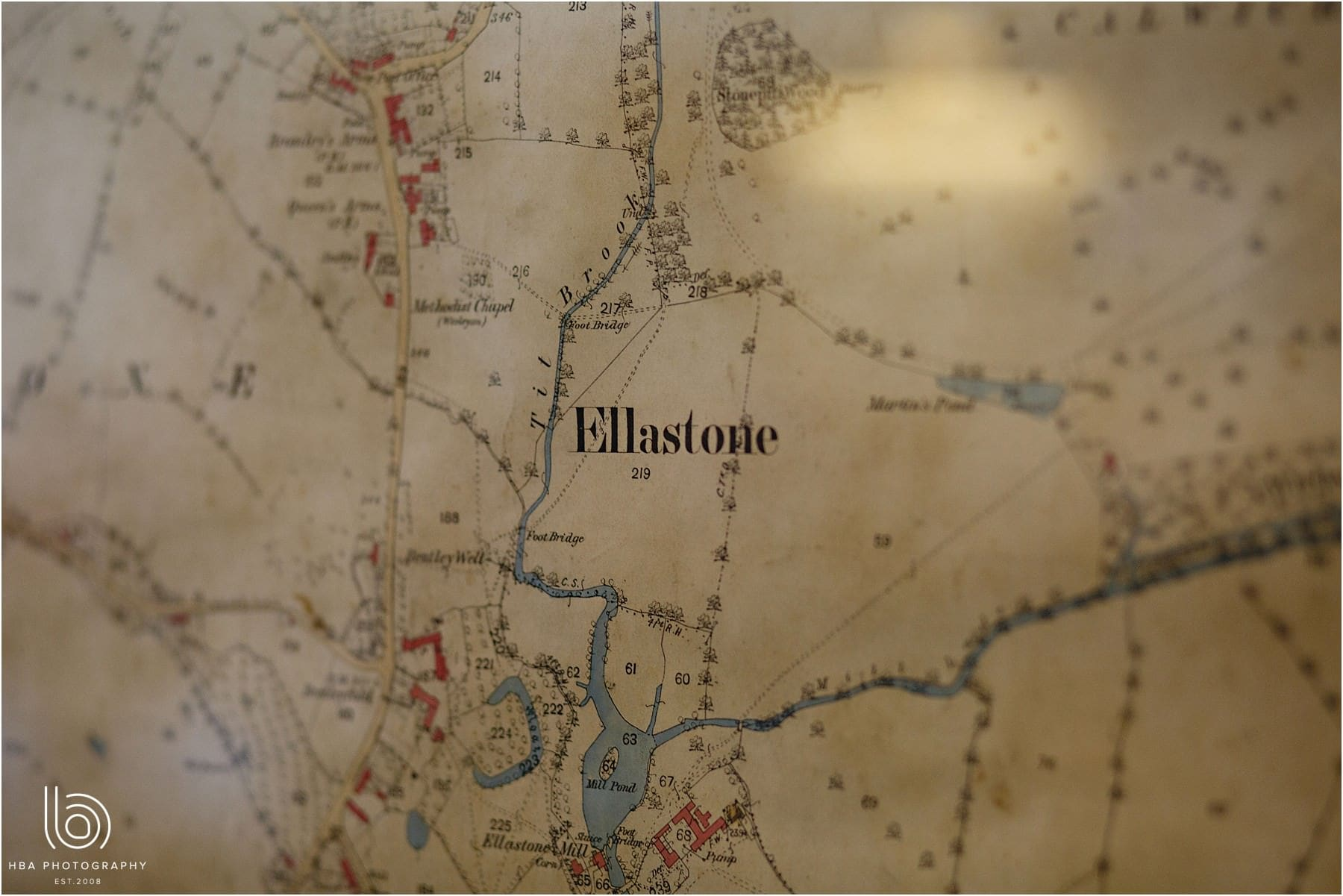 a map of ellastone