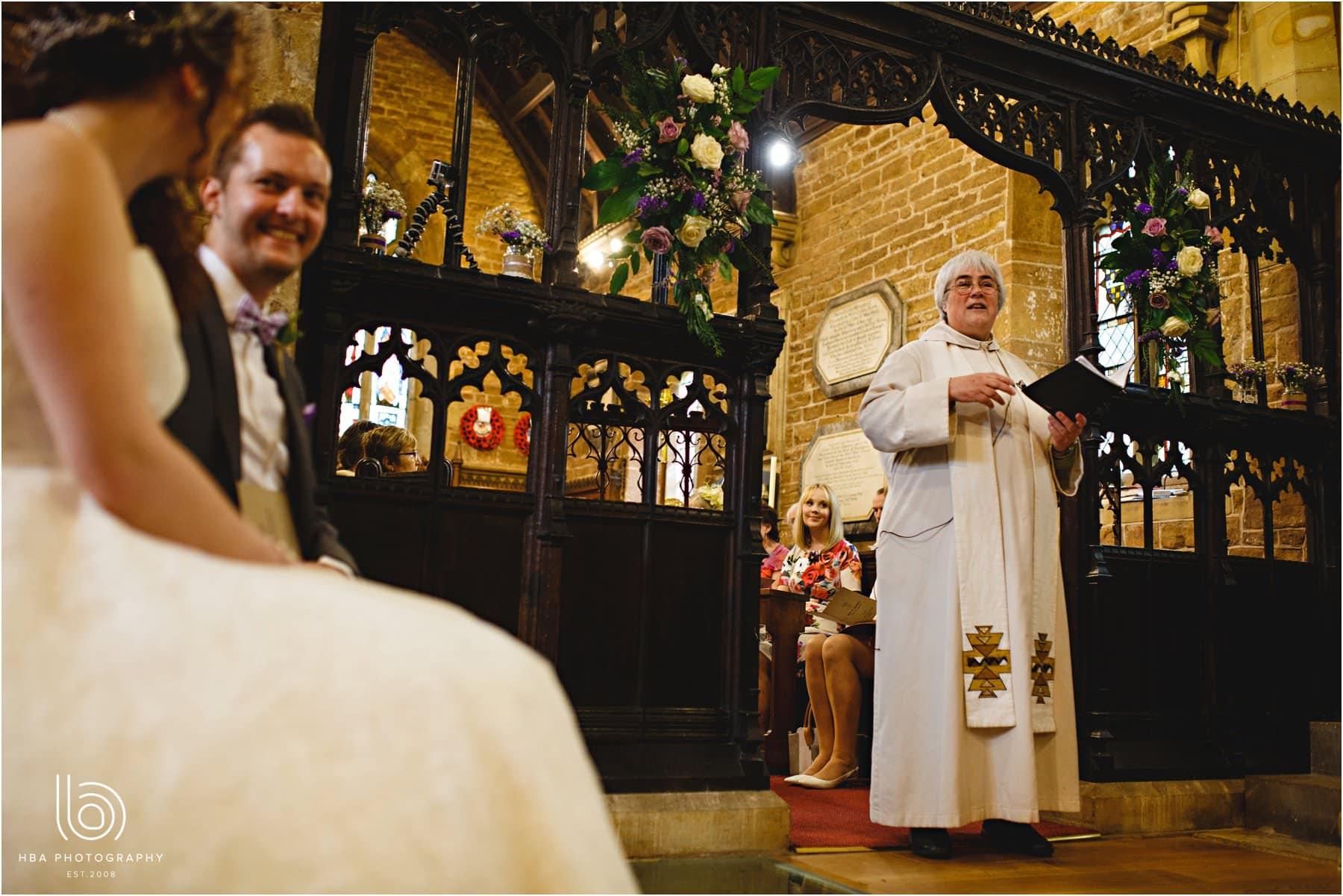 the vicar giving her sermon