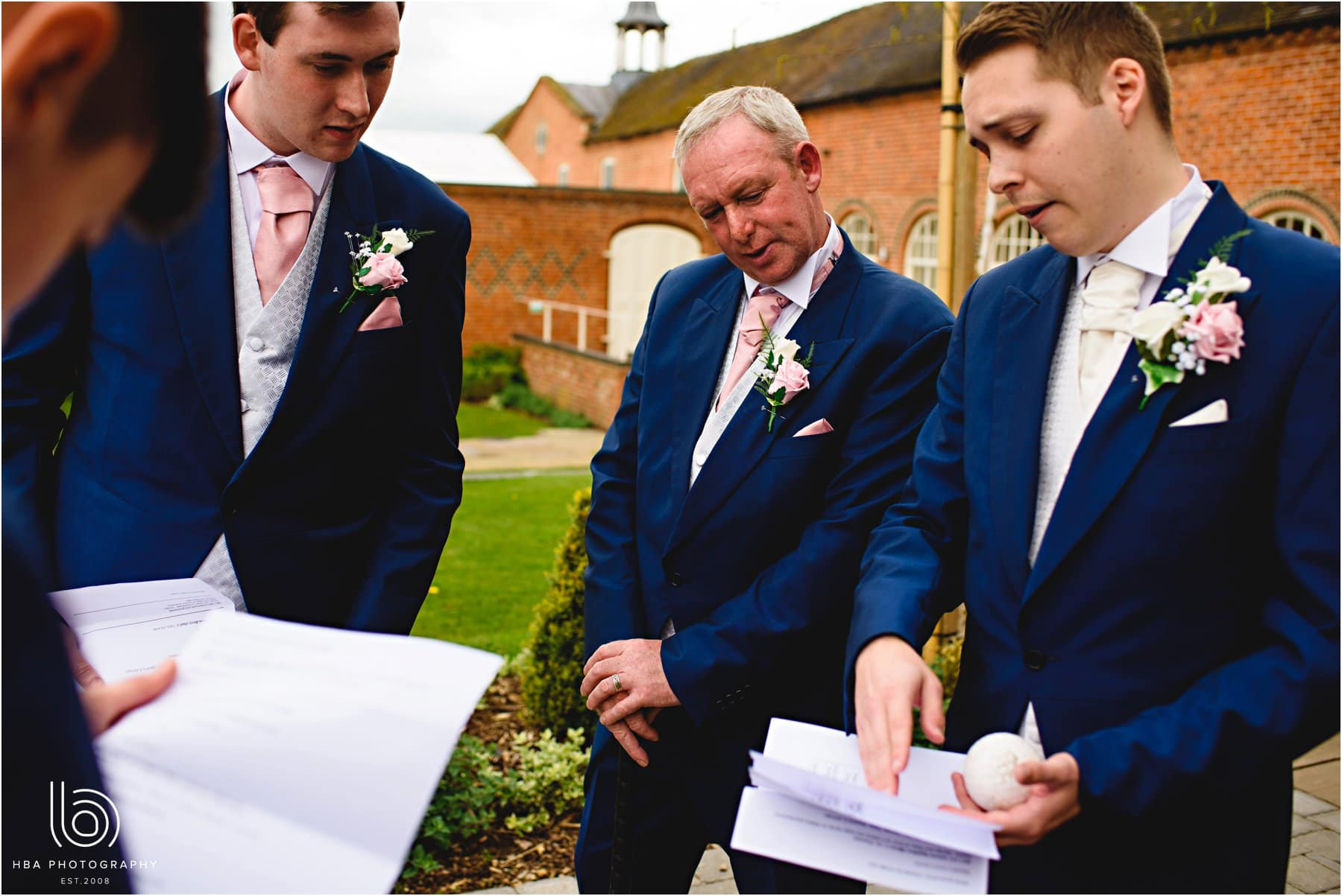the groom and his men making plans