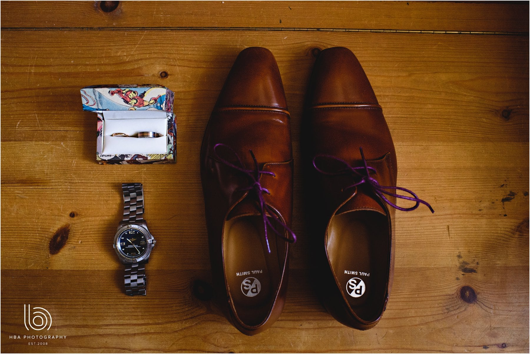 the groom's shoes & watch