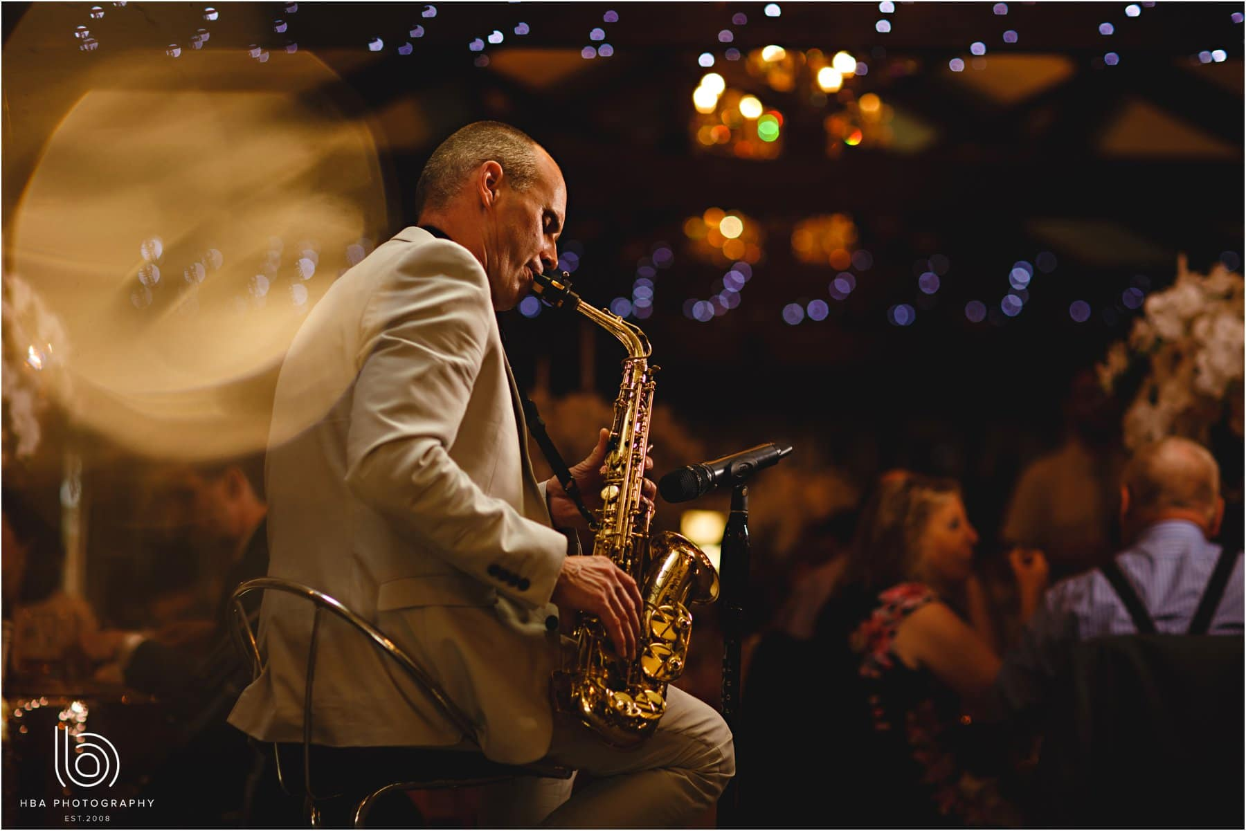 Paul Martyn playing the sax at the wedding