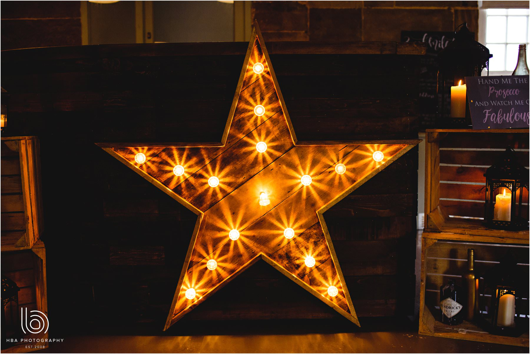 the illuminated star in the West Mill