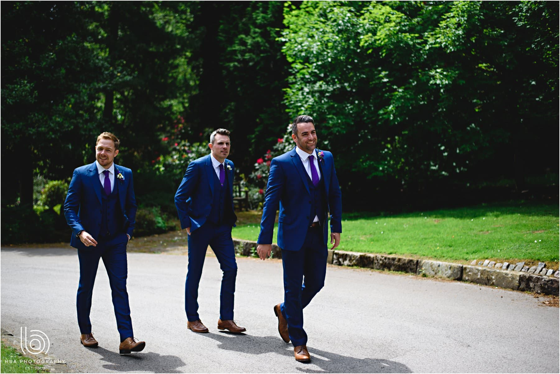 the groom and his men arriving at Whirlowbrook Hall