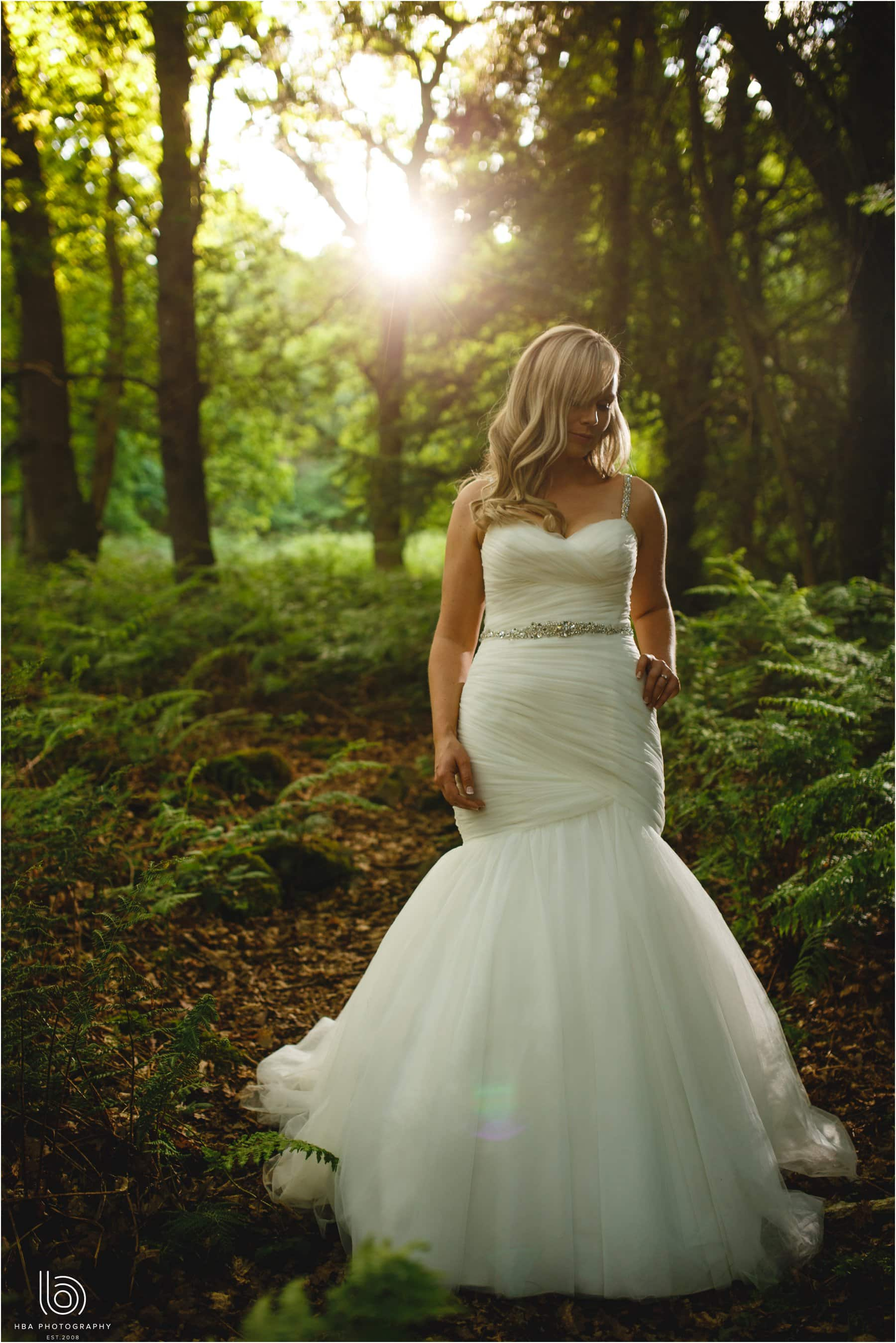 the bride in the woods