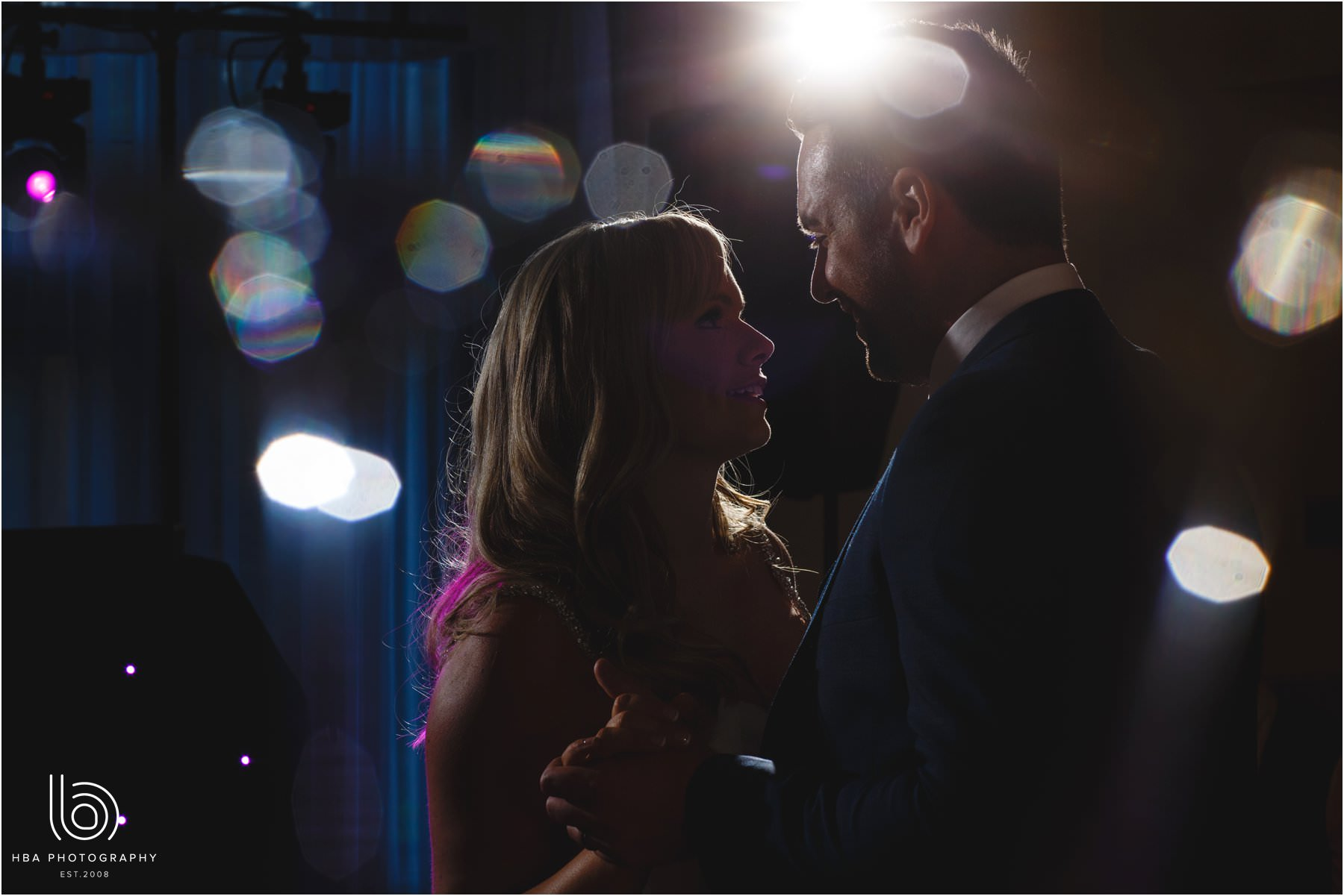 The bride & groom's first dance at Whirlowbrook Hall