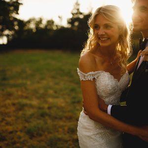 derbyshire wedding photos in beautiful golden sunlight