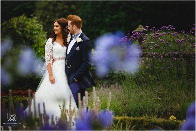 the bride & groom in the gardens