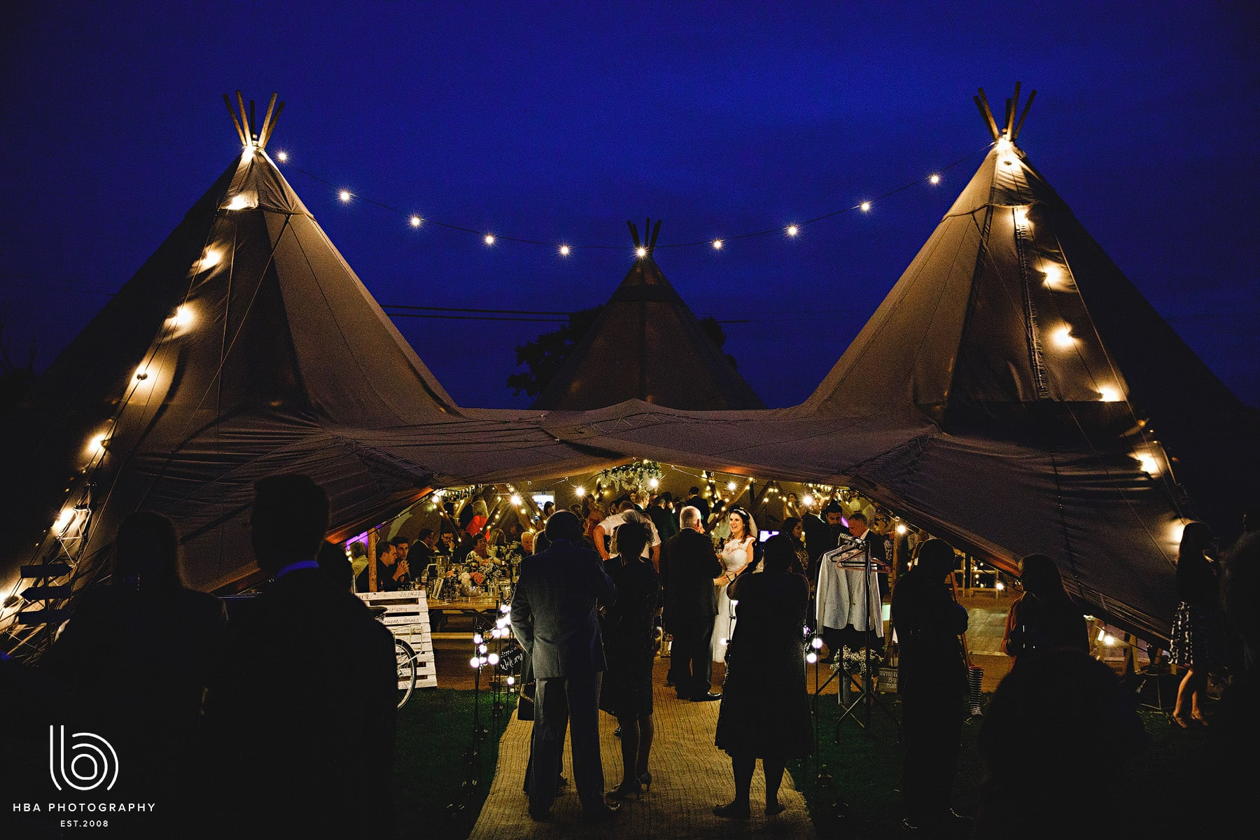 the beautiful tipi at night