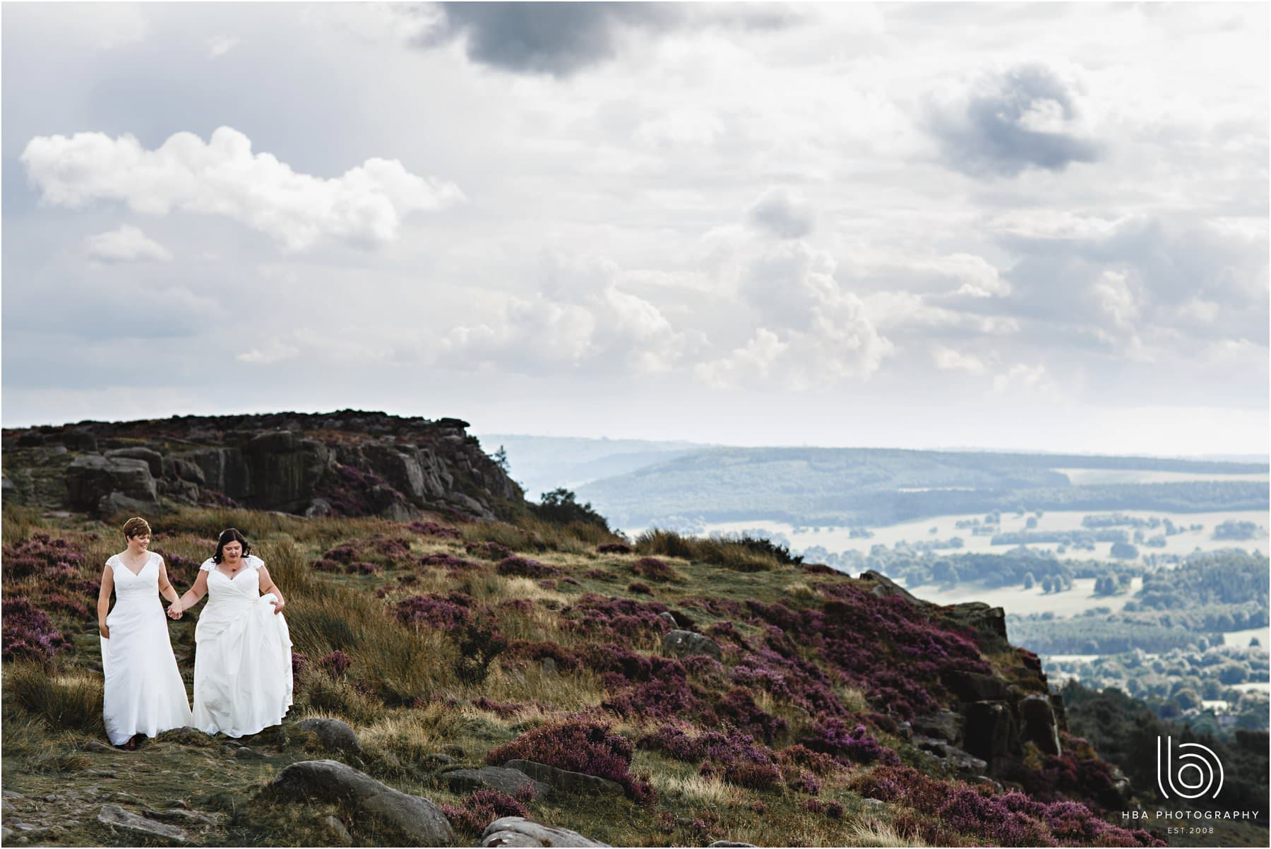 the two brides at Curbur Edge