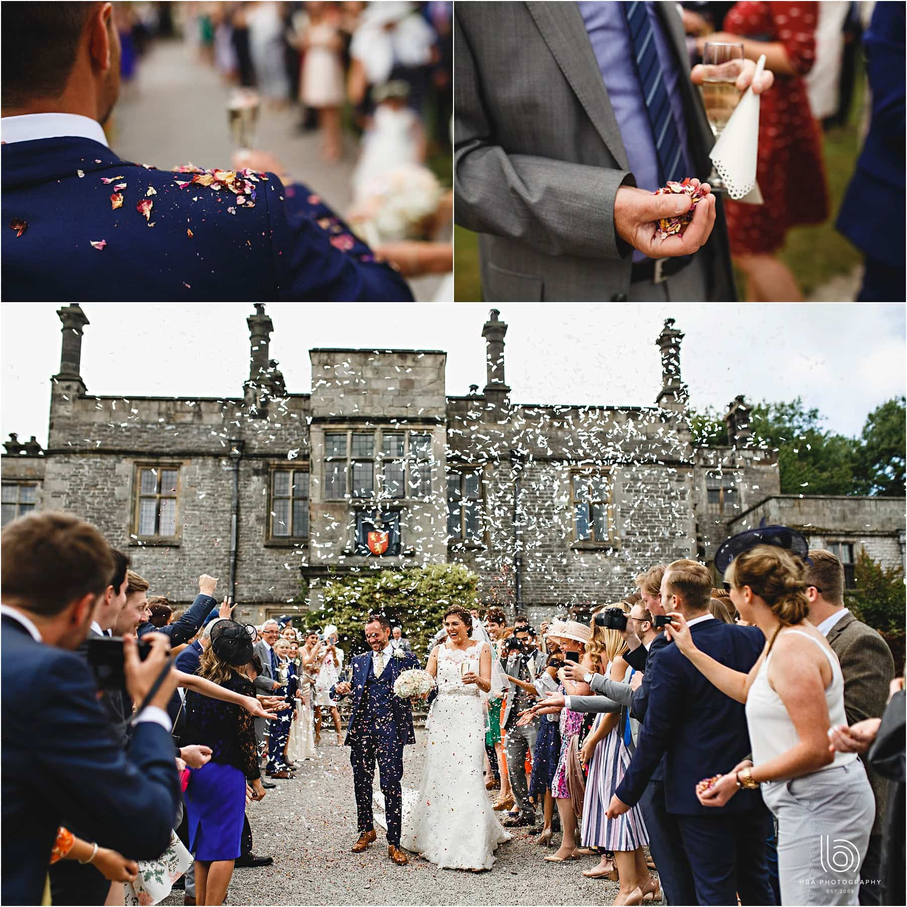 Confetti at Tissington Hall