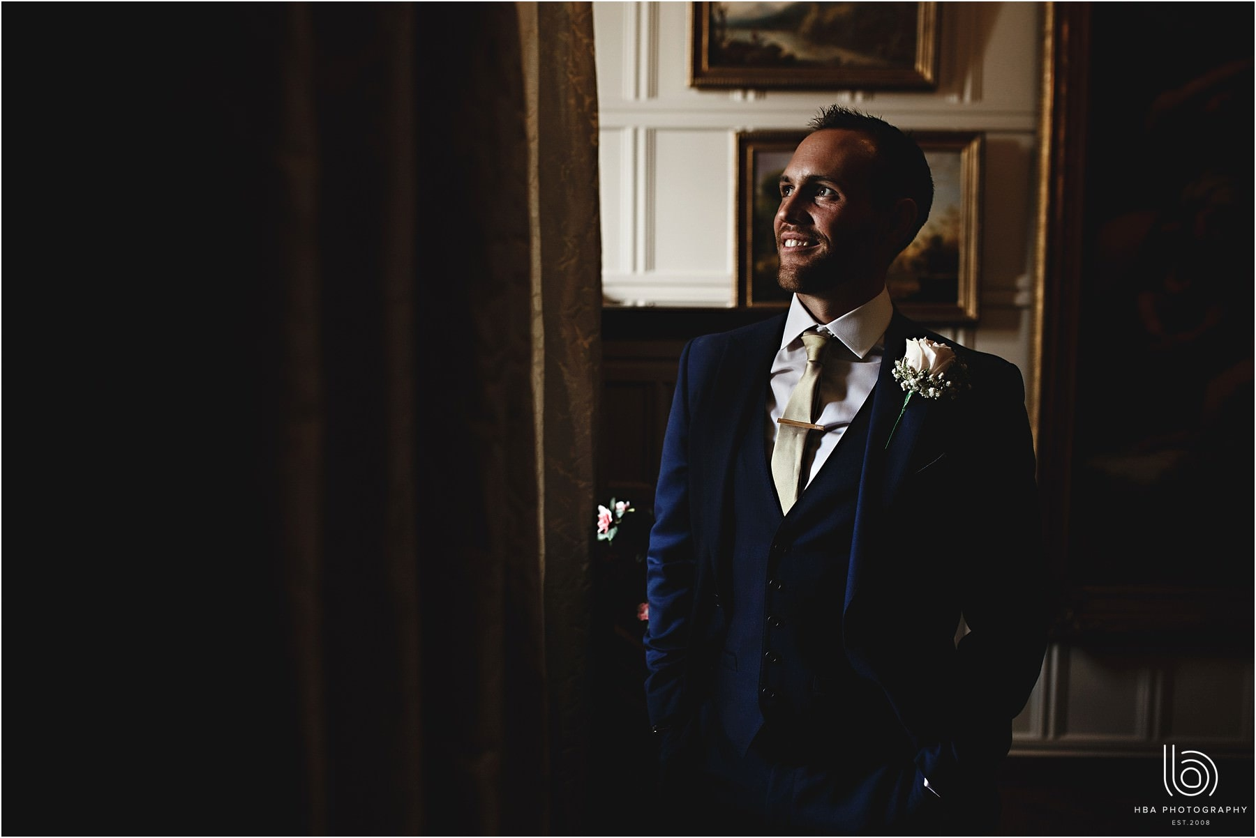 the groom inside Tissington Hall