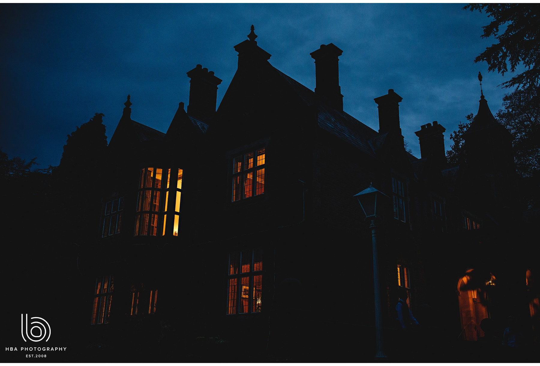 Callow Hall at night