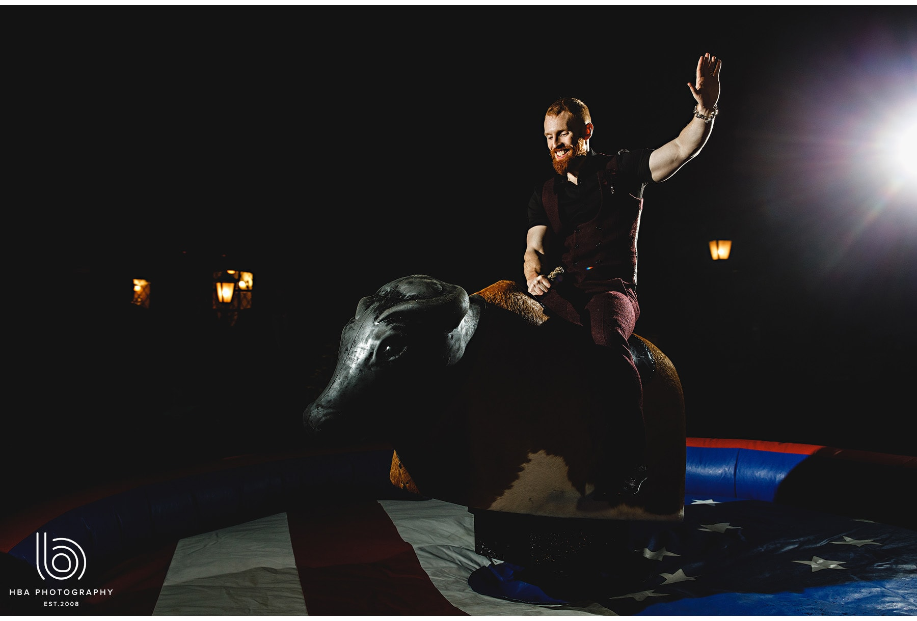 the groom on the rodeo bull