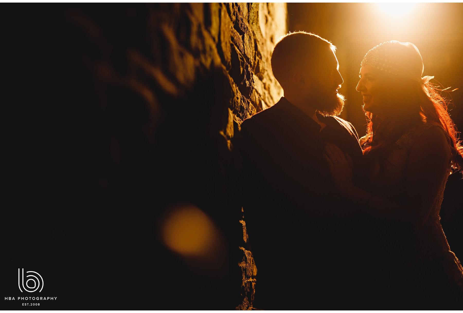 the bride & groom in the golden hour