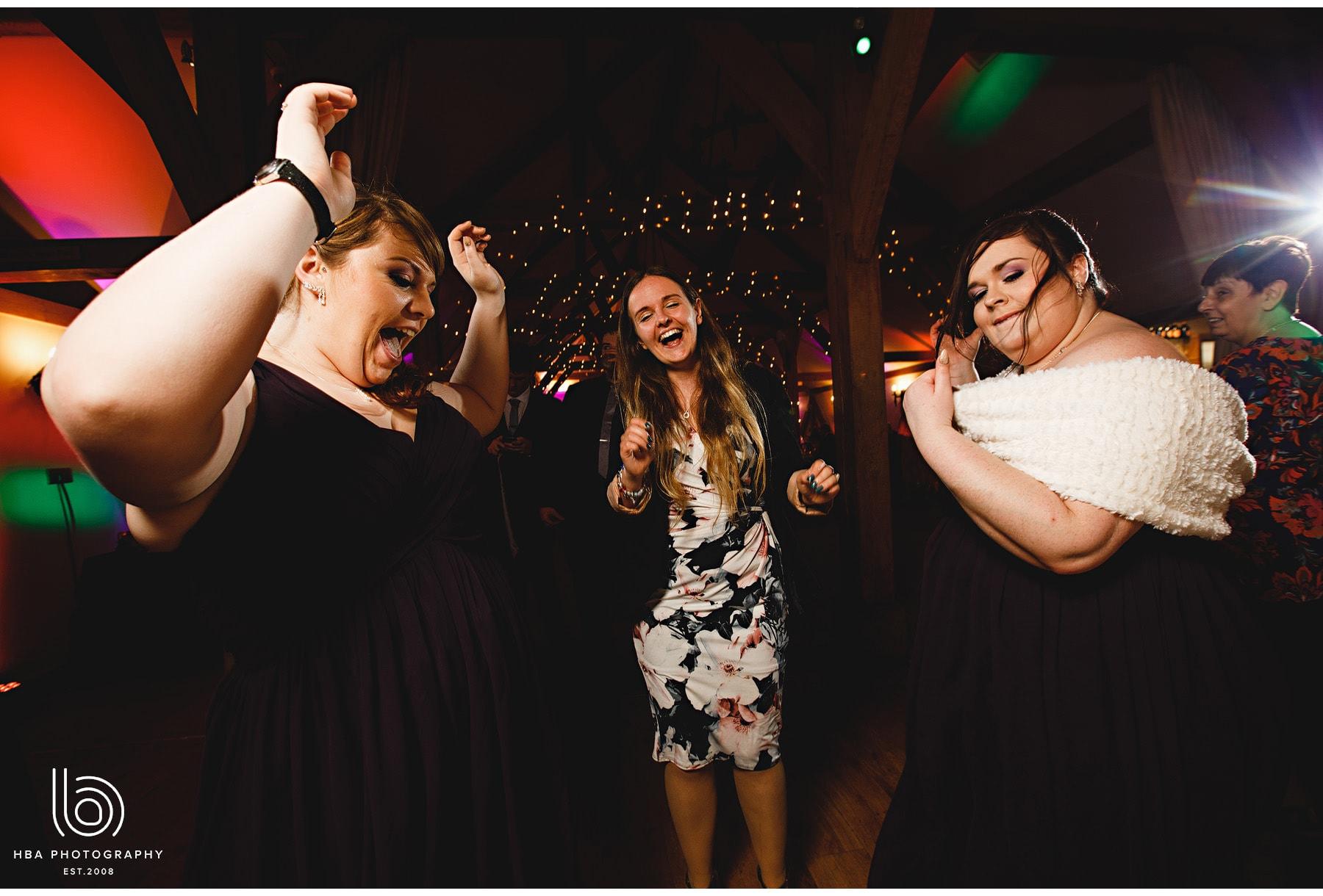 wedding guests dancing at Sandhole