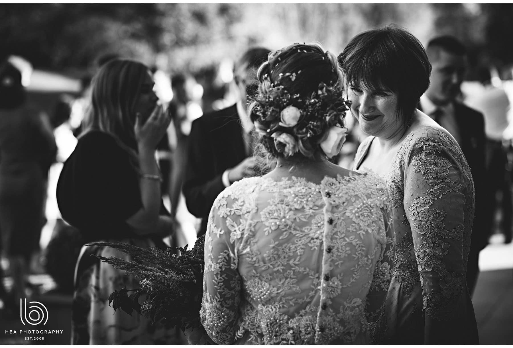 the bride talking