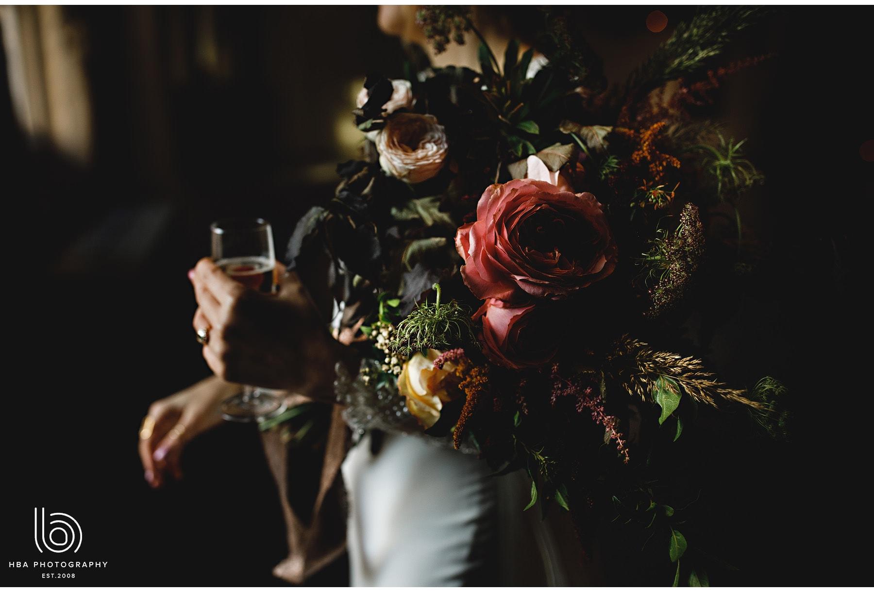 the bride's beautiful bouquet