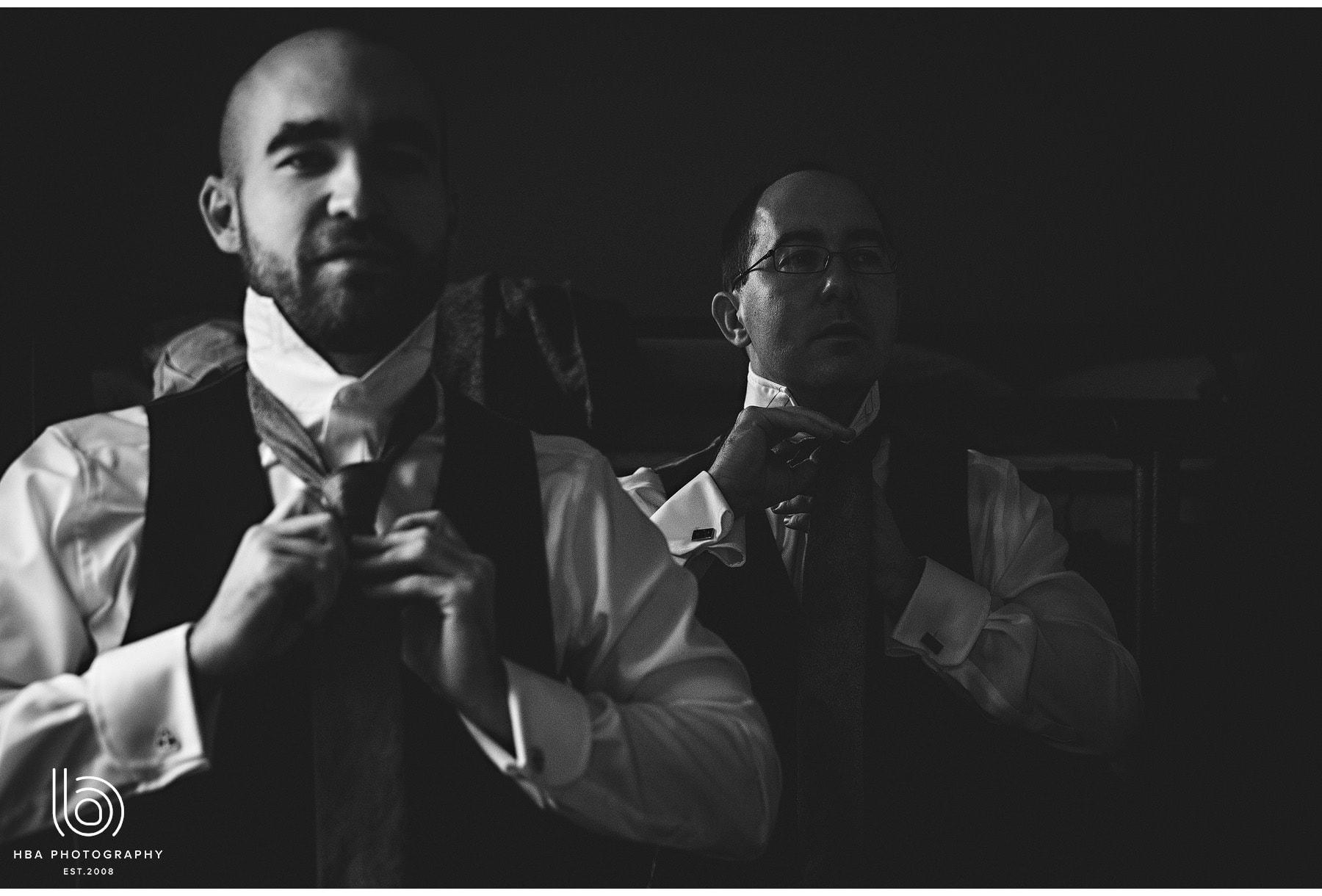 the groomsmen getting ready