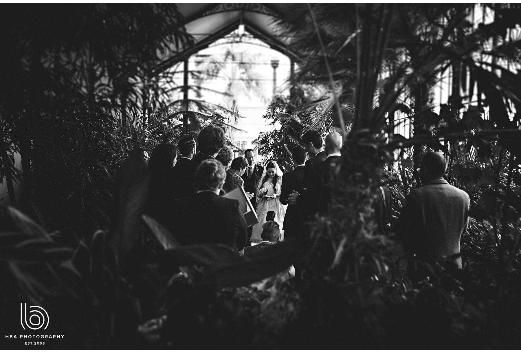 the ceremony inside the pavillion gardens