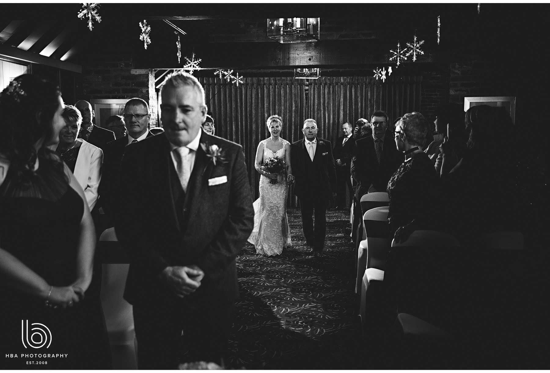 the bride walking into the ceremony