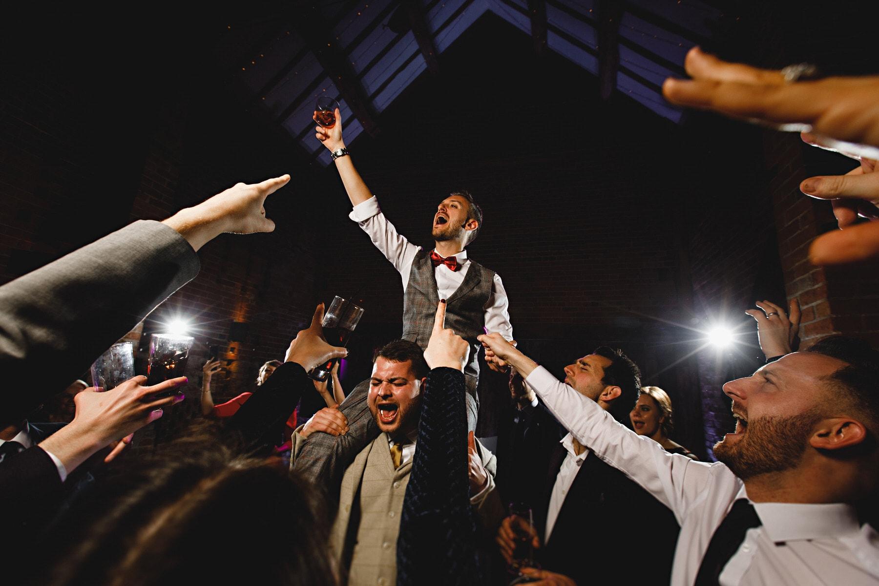 dance floor party at Shustoke Barns in Warwickshire