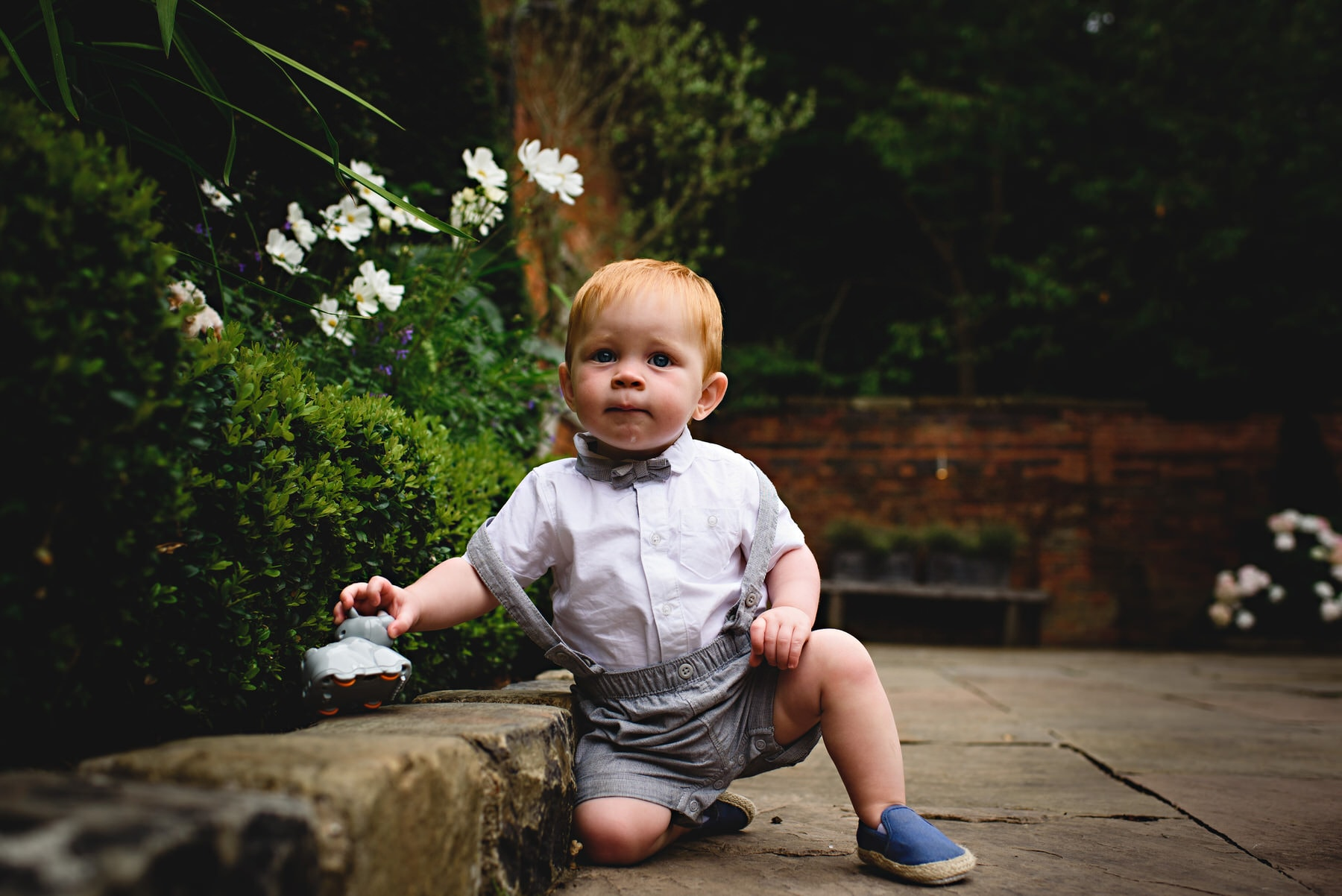 young child at Shustoke Barns in Warwickshire
