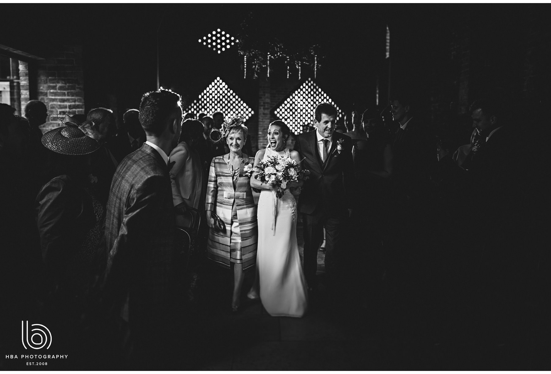 the bride as she sees the groom