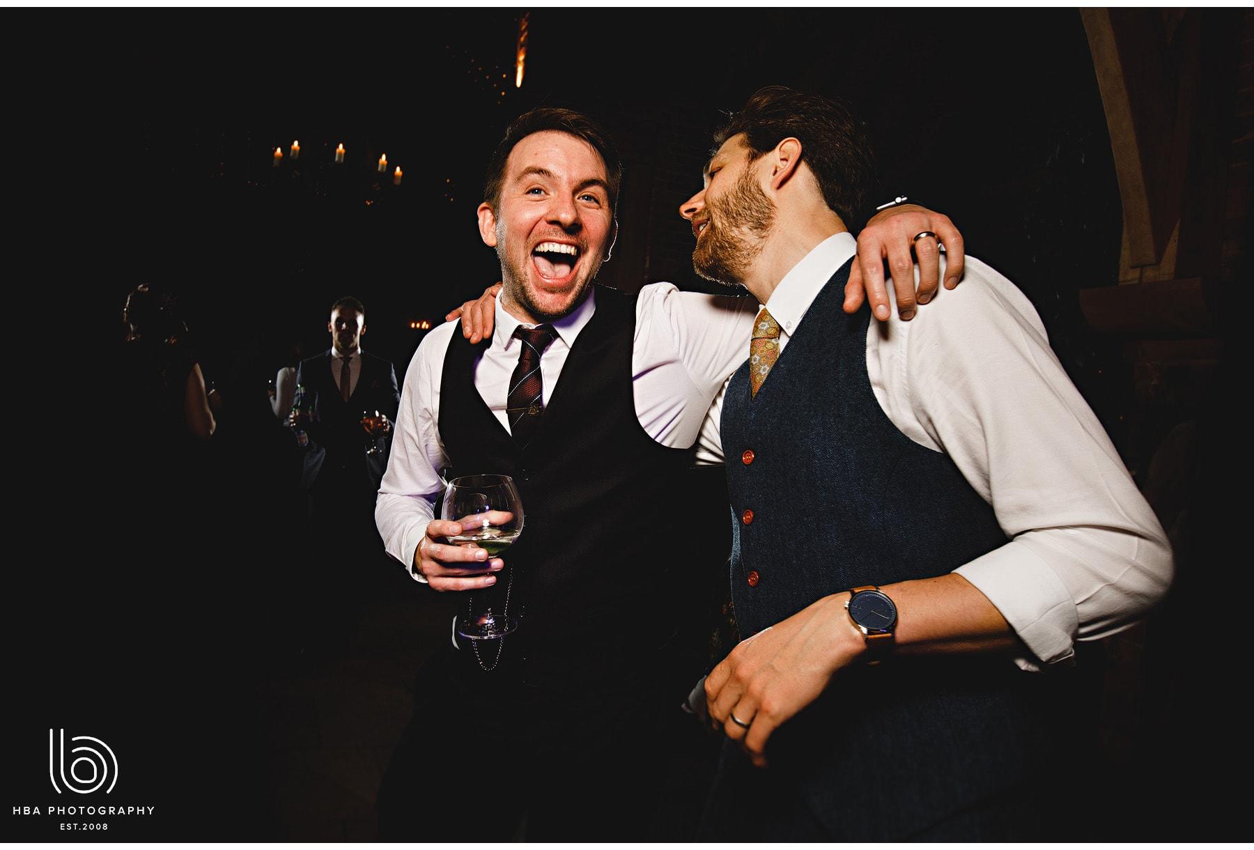 wedding guests dancing at Shustoke