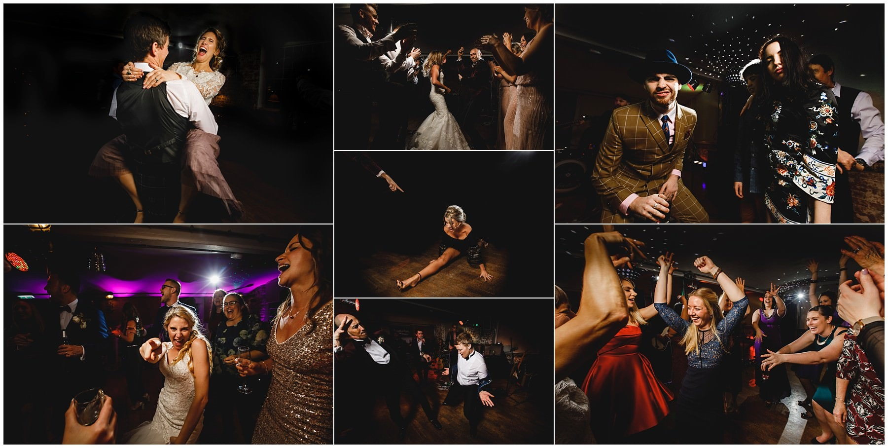 party photos at The West mill in Derbyshire - Industrial Wedding venue