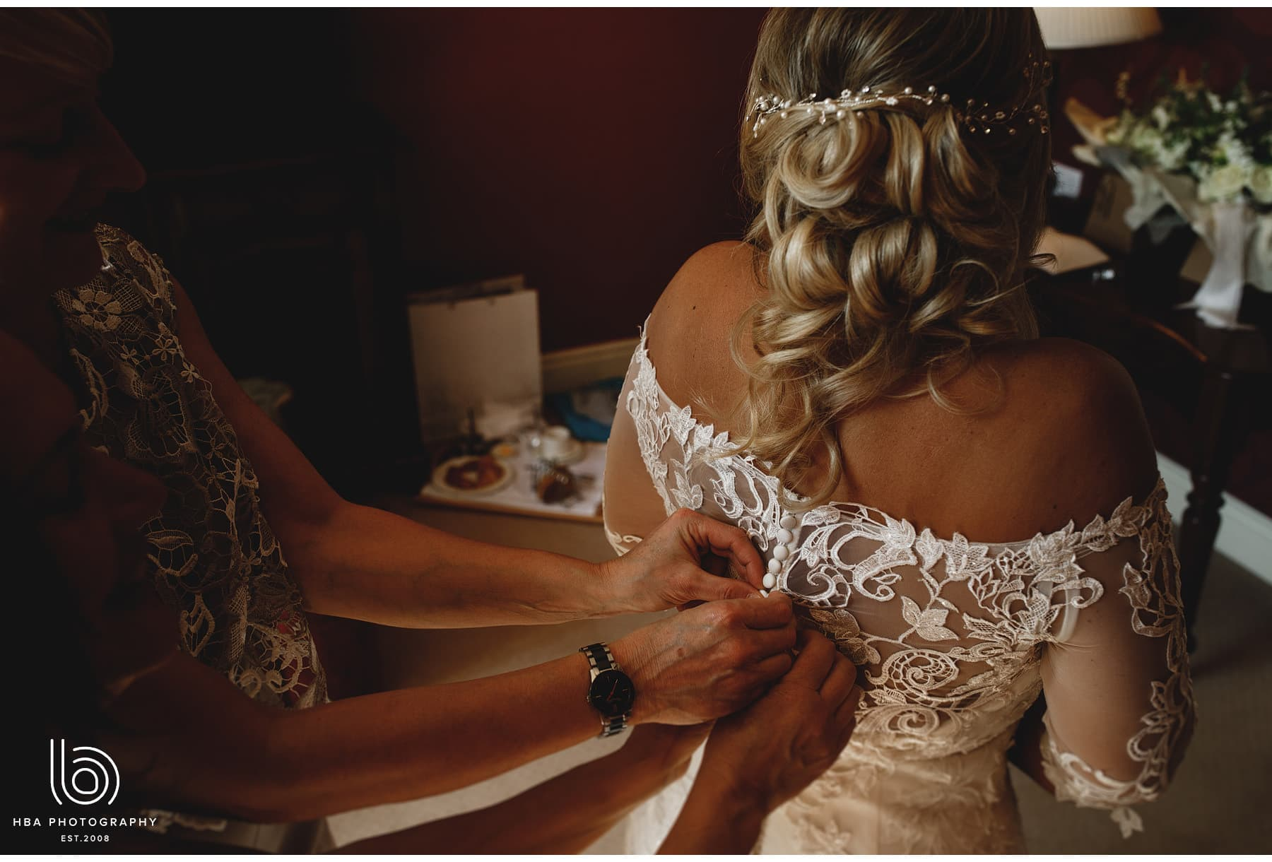 the bride in the dress