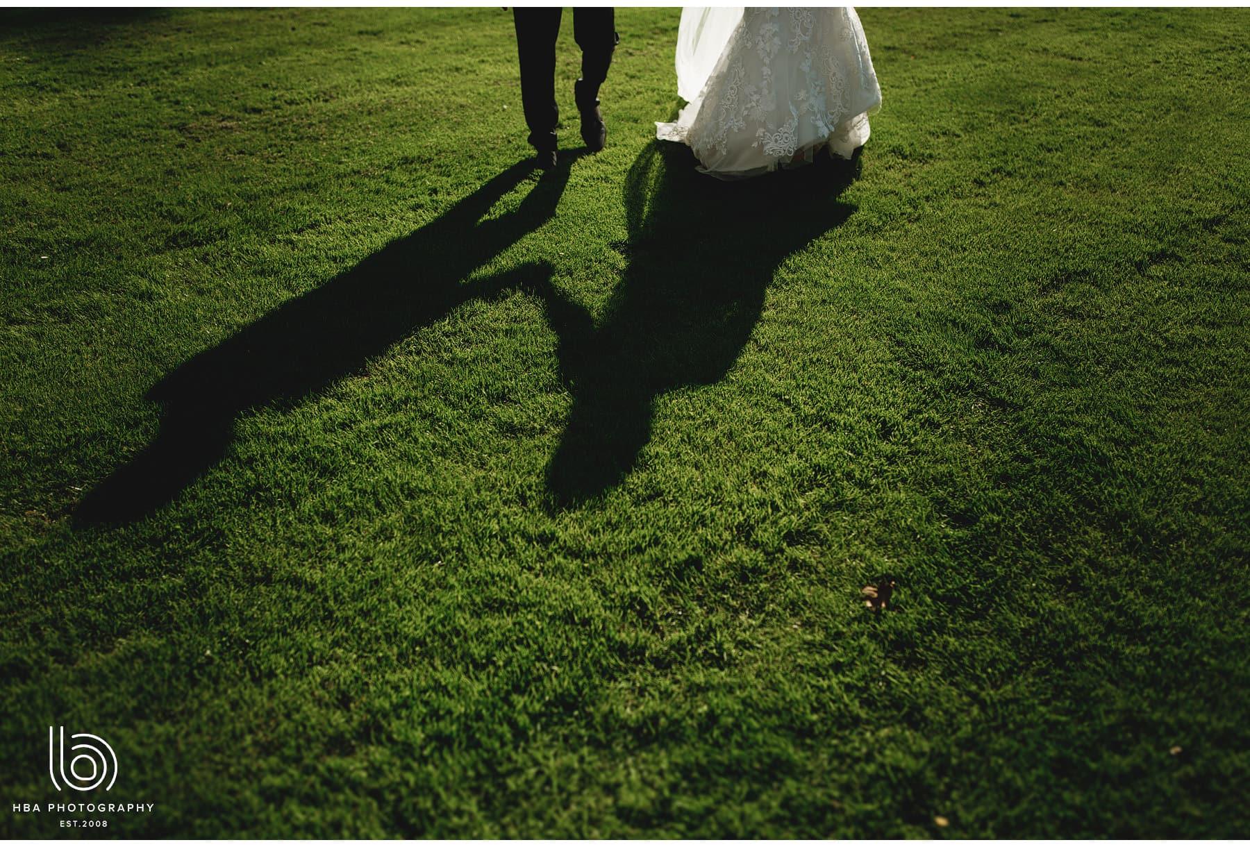 the bride & groom's shadow