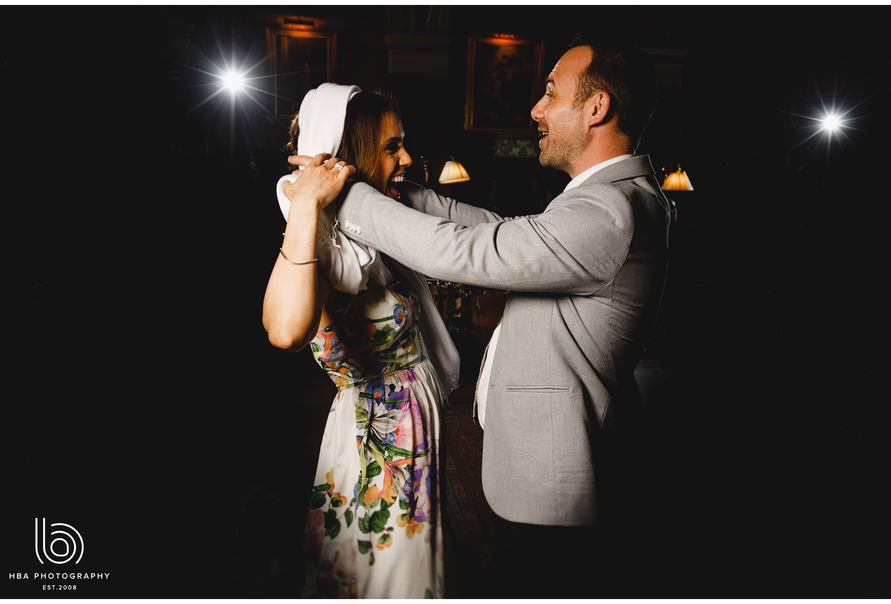 wedding guests dancing at Stapleford Park
