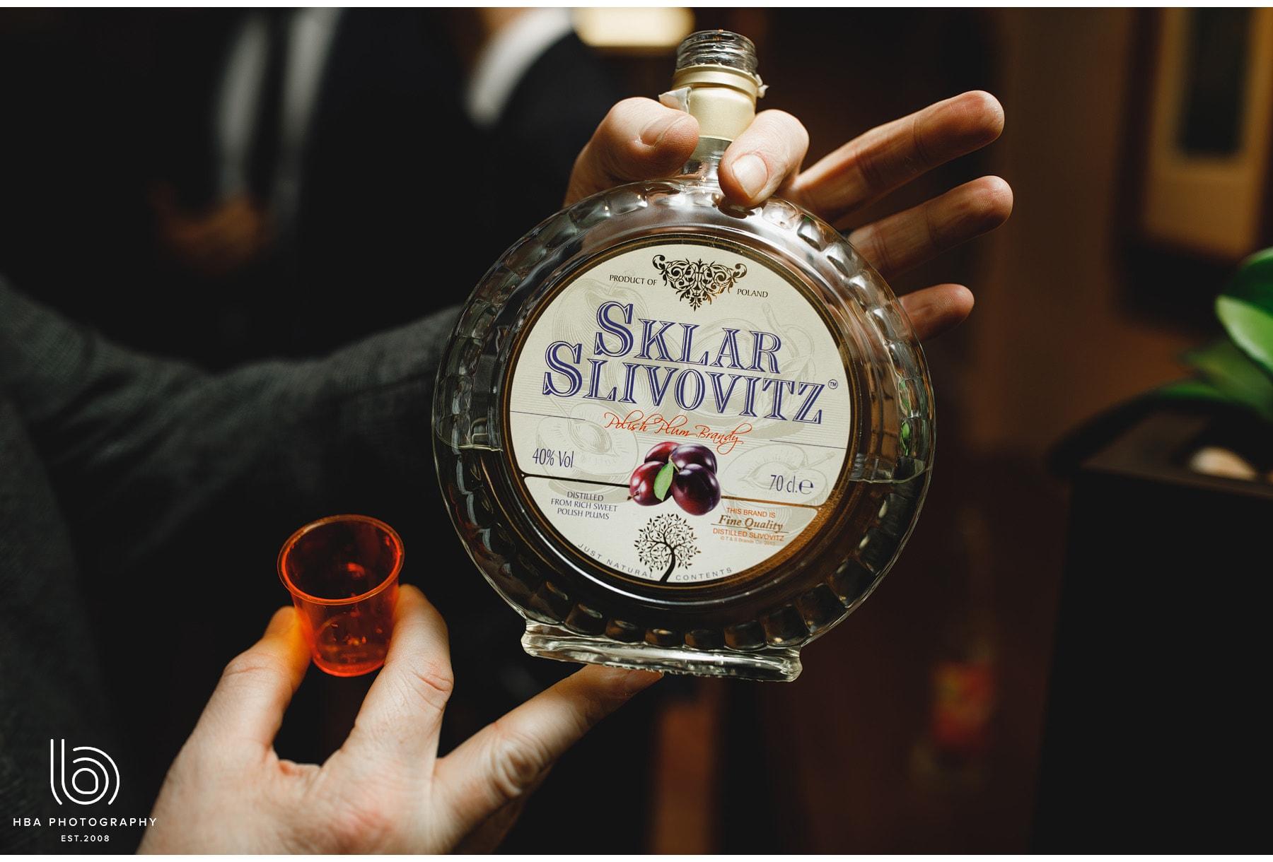 Polish brandy being passed around