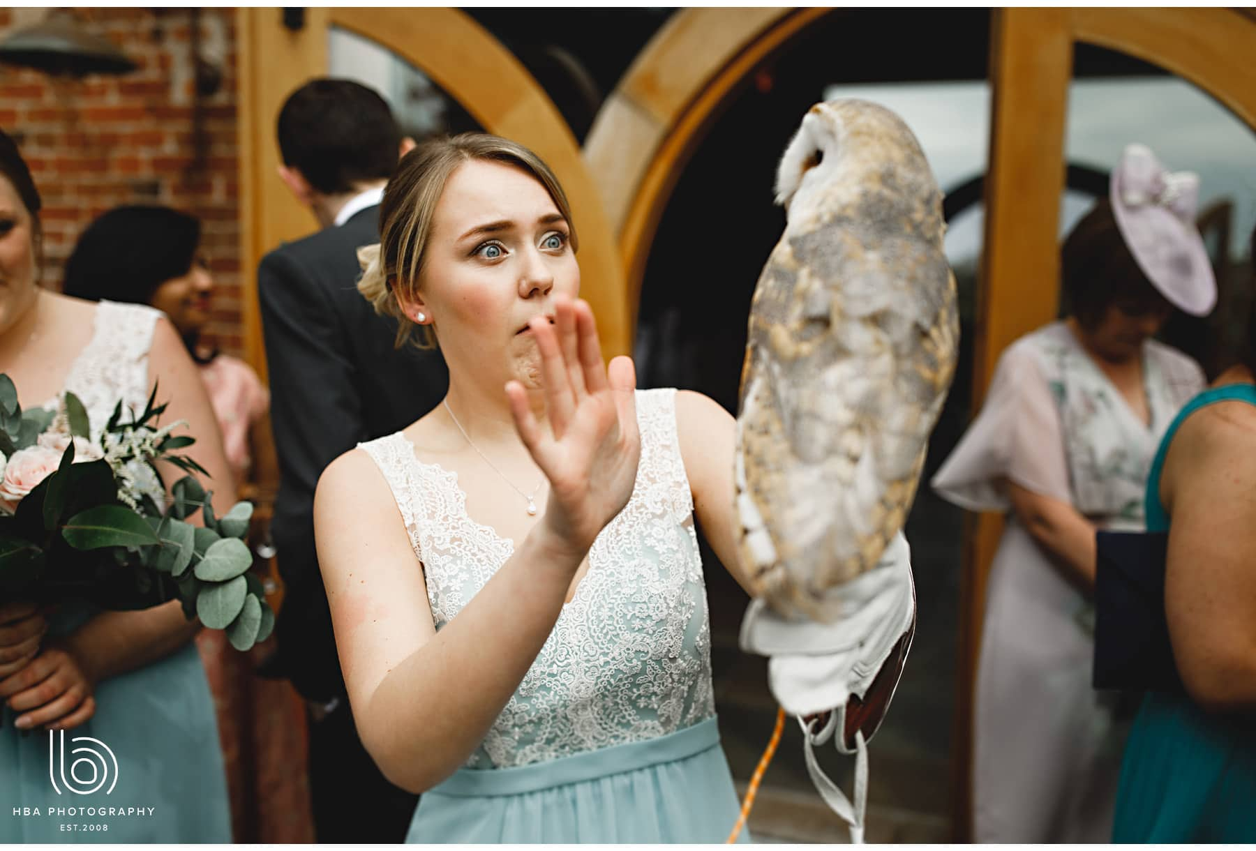 the bridesmaid with the owl