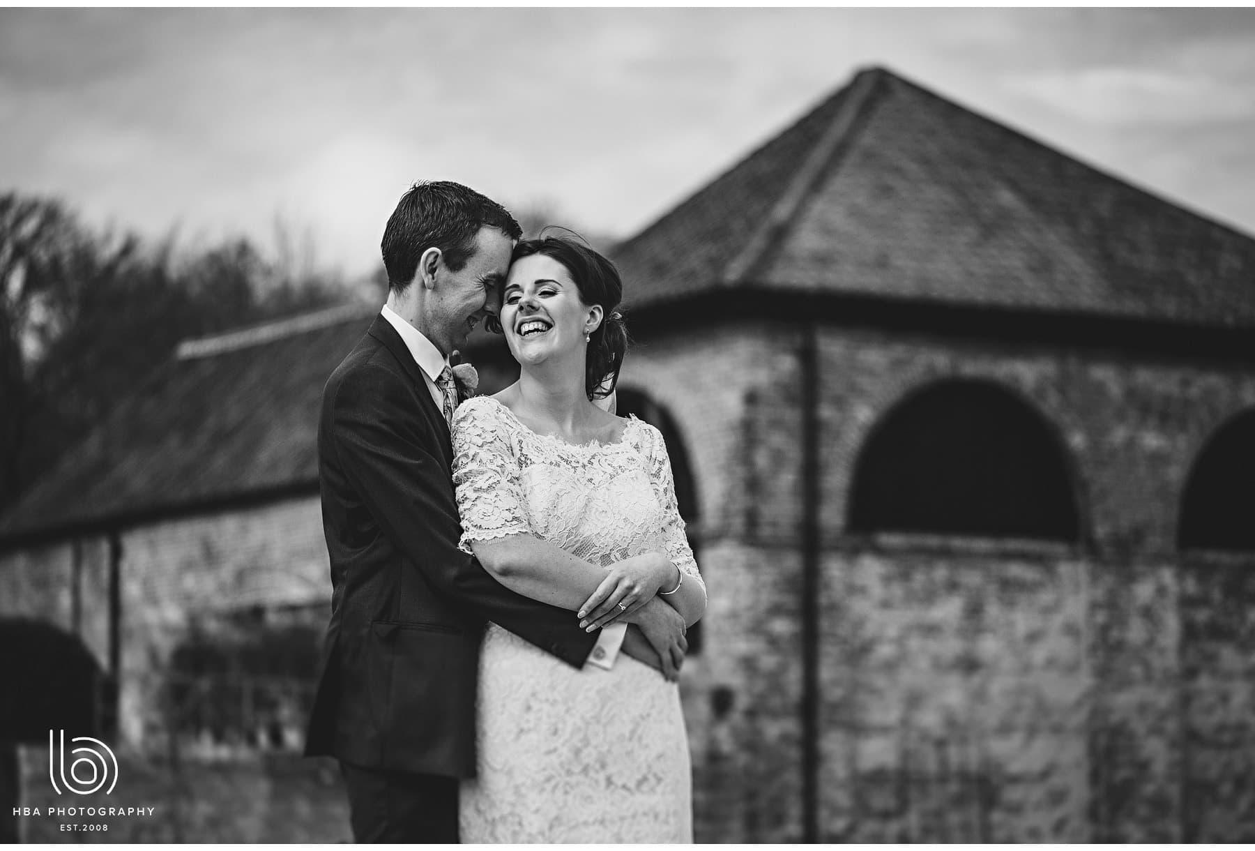 the bride & groom infront of Hazel Gap