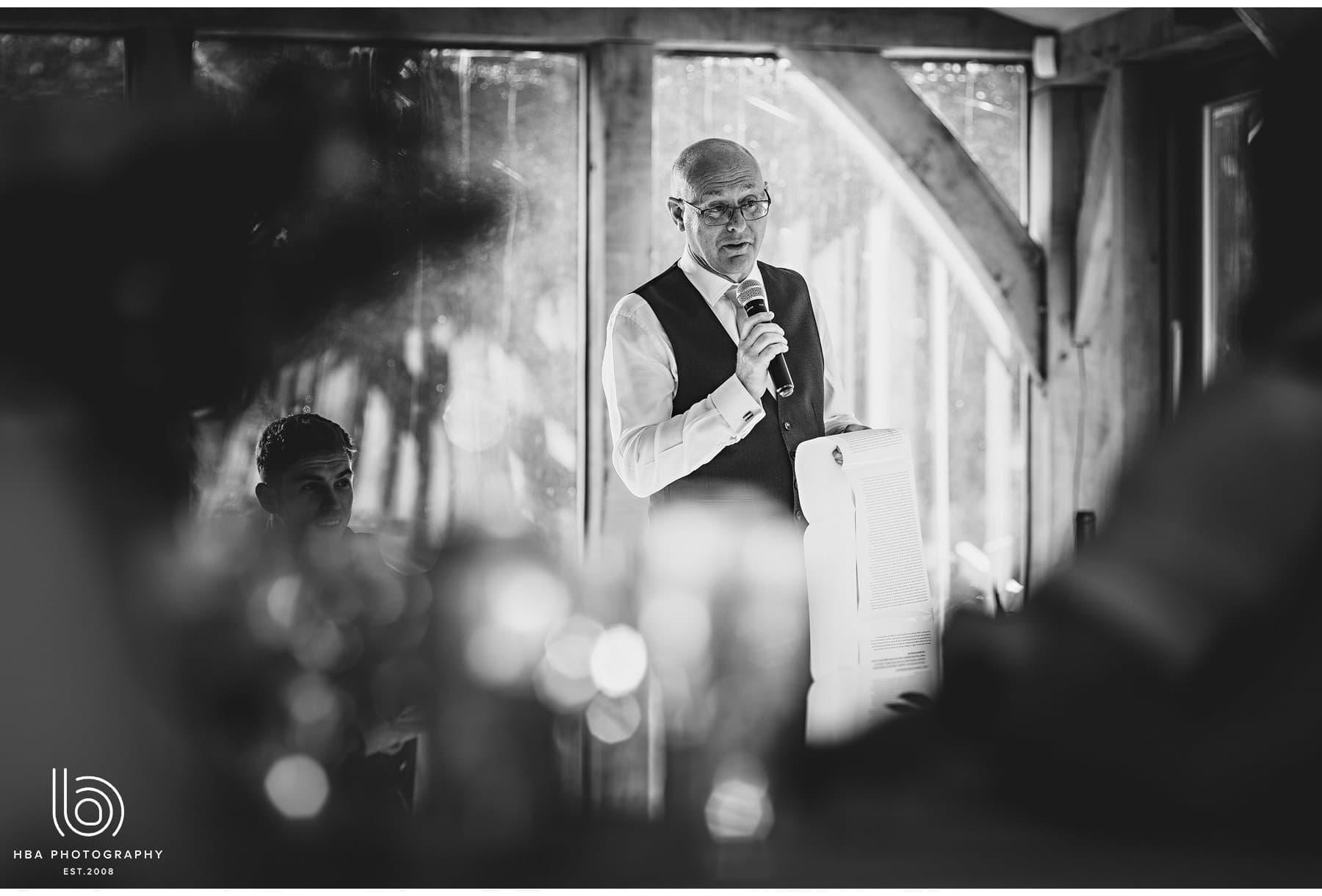 the bride's dad's speech