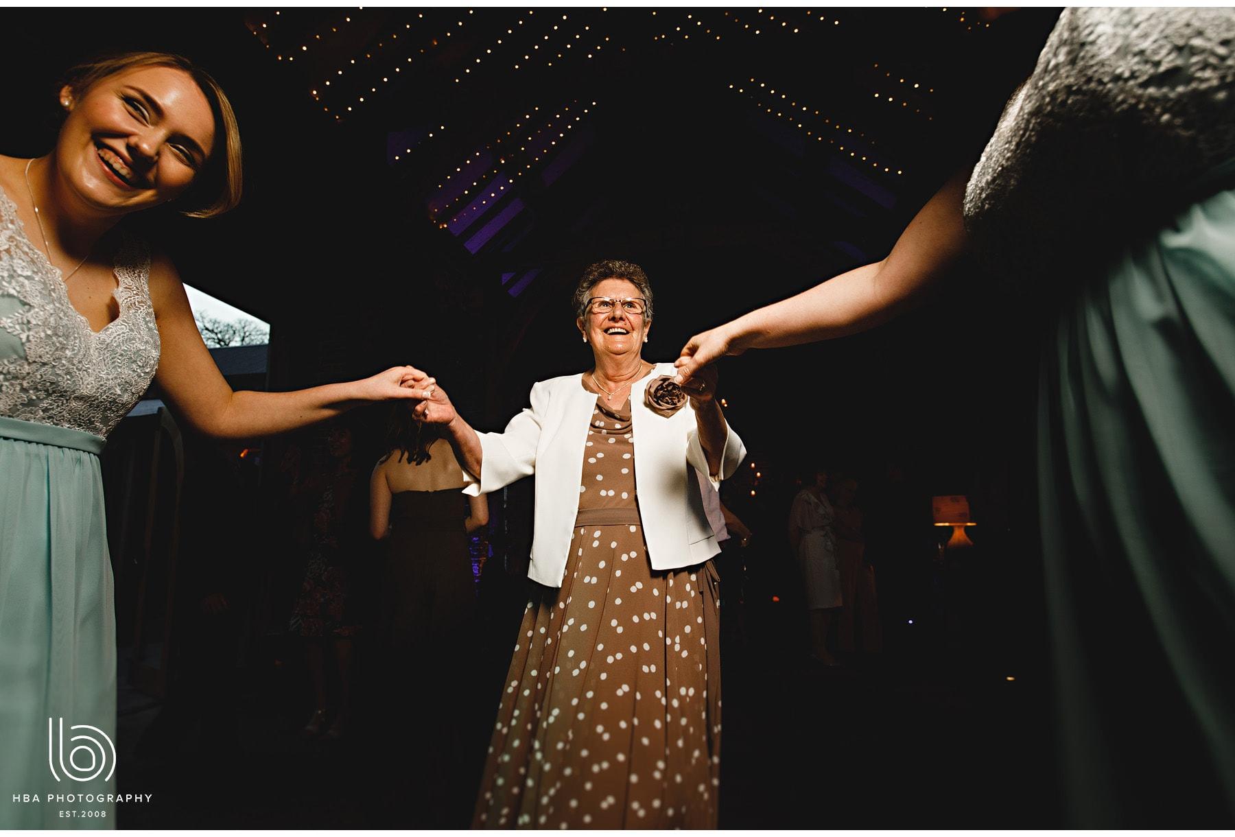 grandma dancing at Hazel Gap