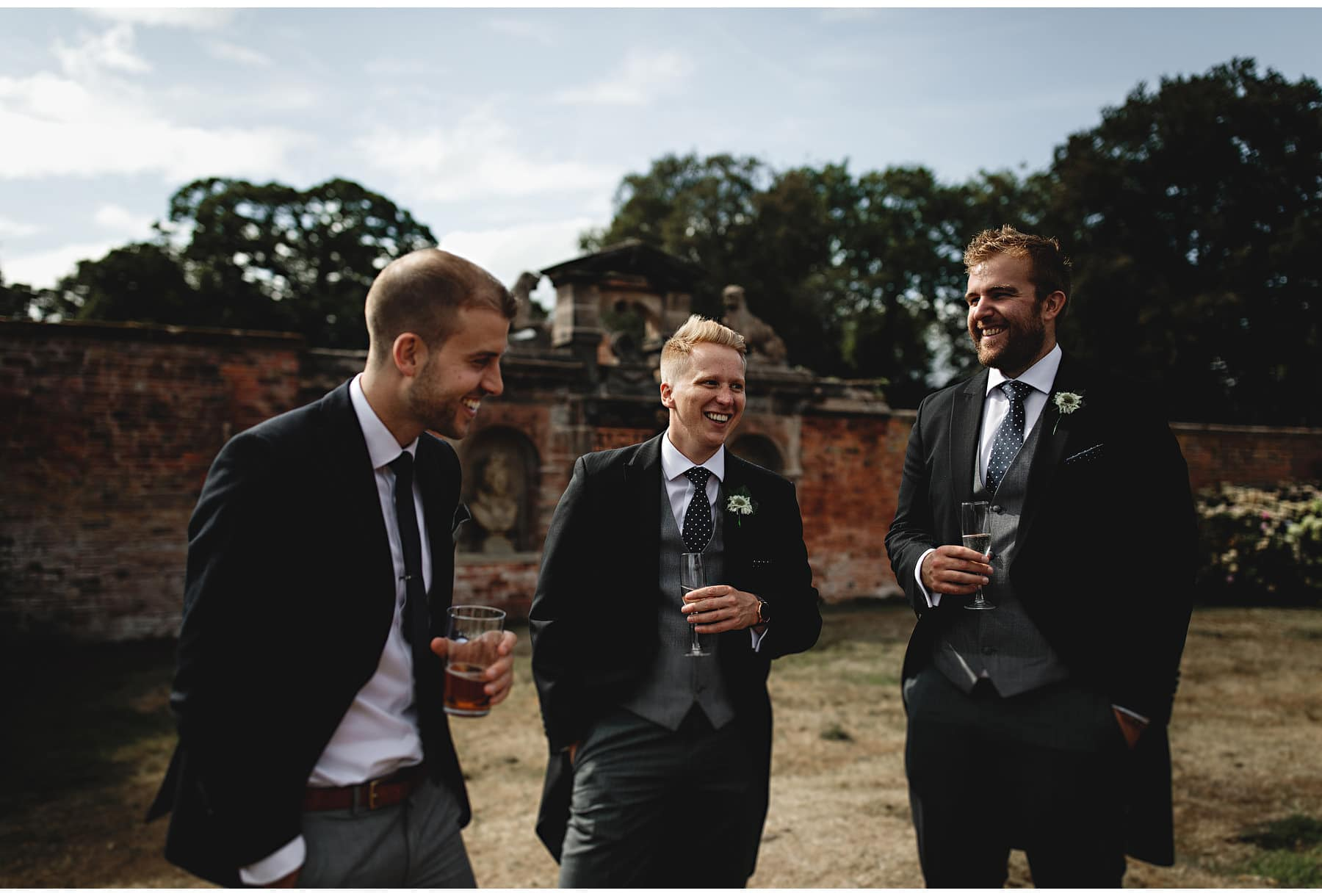 the groomsmen laughing