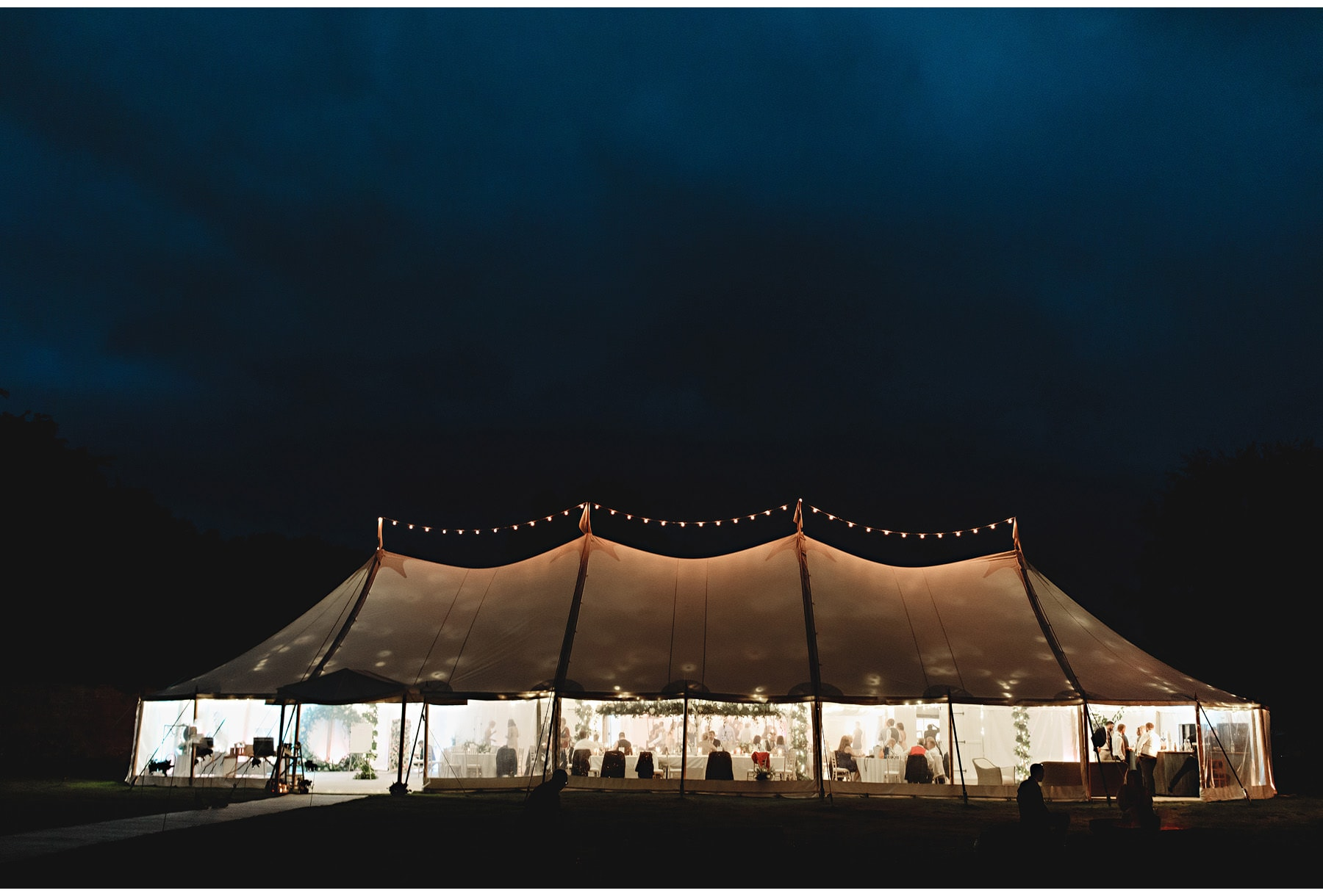 the sperry tent at night