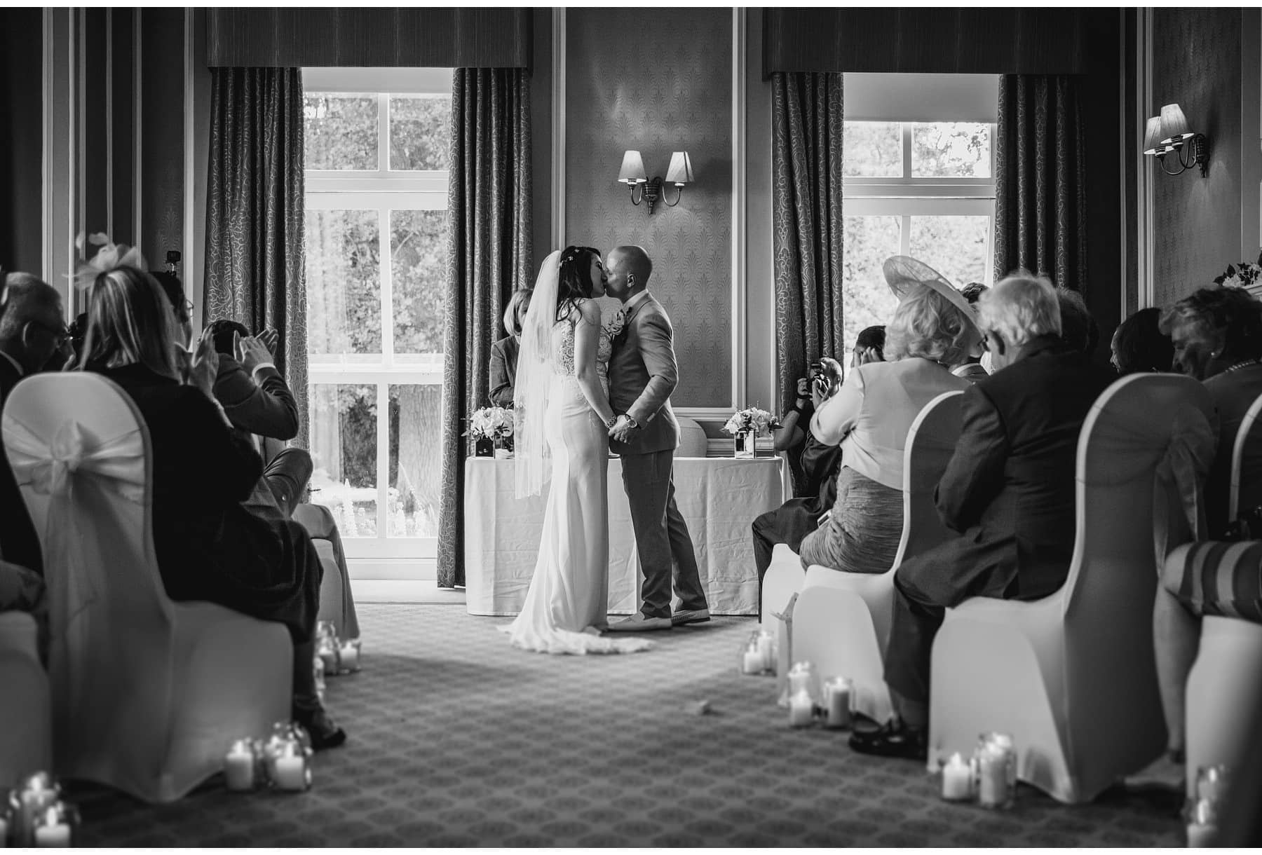 the bride & groom's first kiss