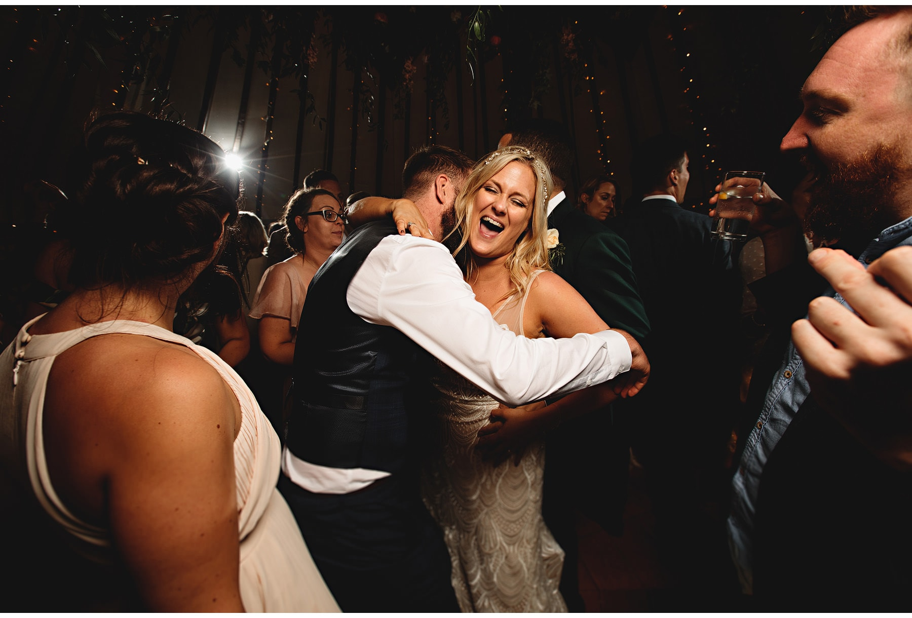 the bride dancing with her husband