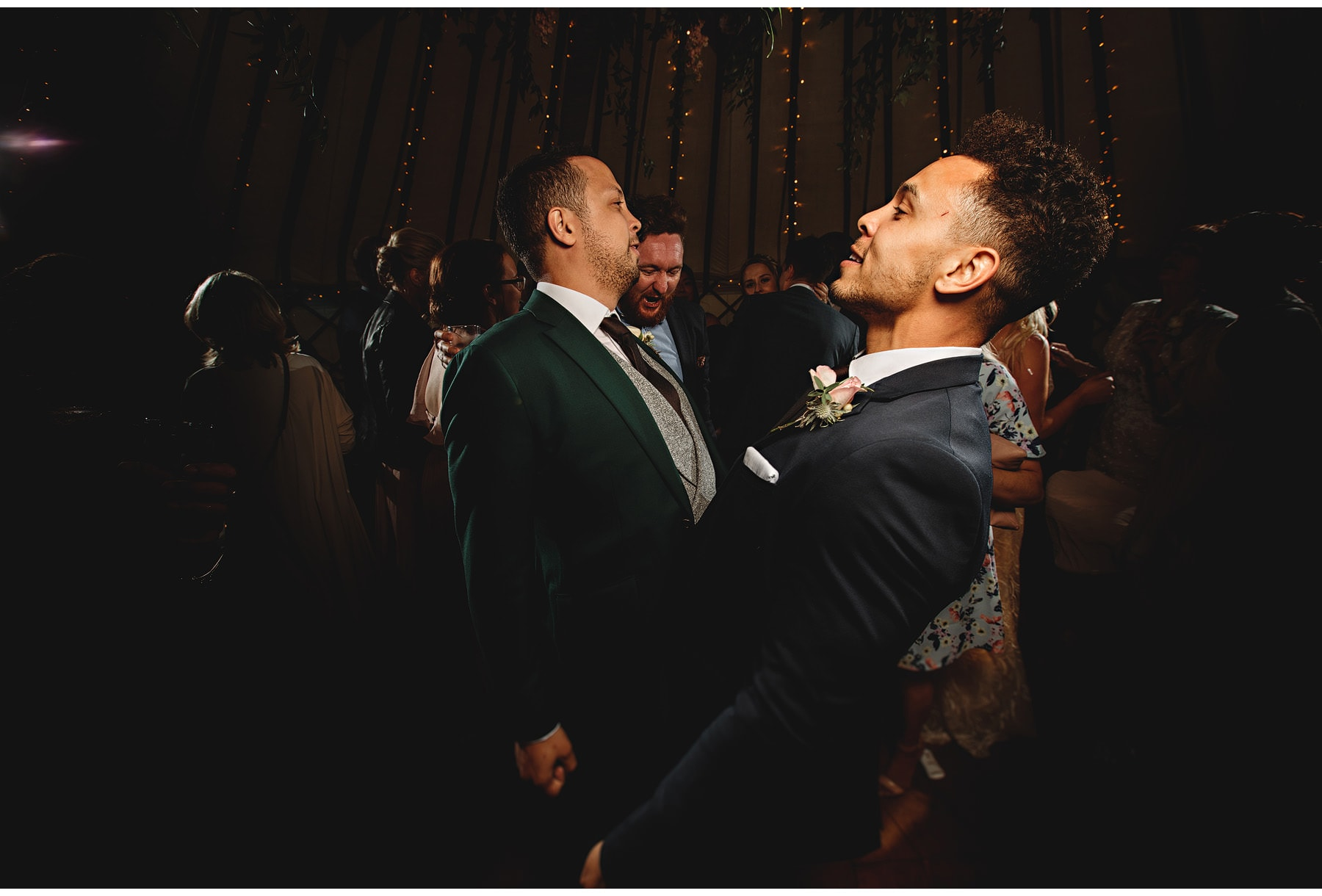 the groom and his brother dancing